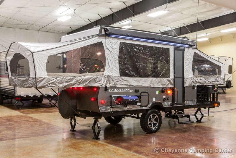 2021 Forest River Flagstaff Sports Enthusiast 23SCSE Toy Hauler Folding Camper Exterior Image