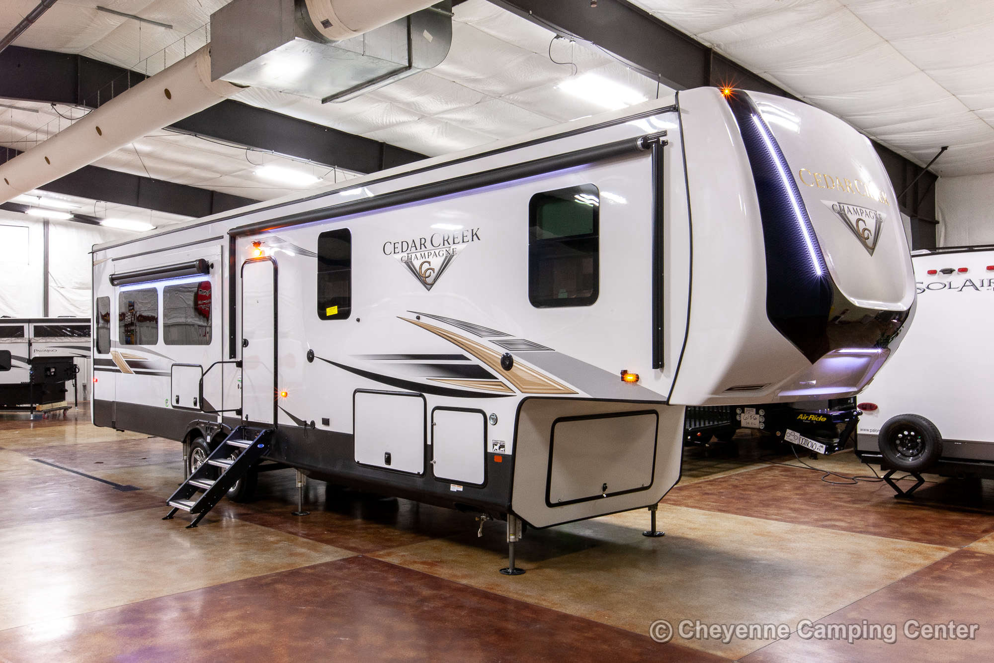 2021 Forest River Cedar Creek Champagne Edition 38EL Fifth Wheel Exterior Image