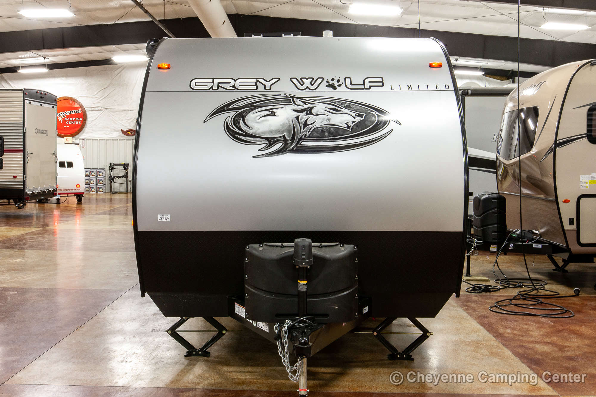 2020 Forest River Cherokee Grey Wolf 19RR Toy Hauler Travel Trailer Exterior Image