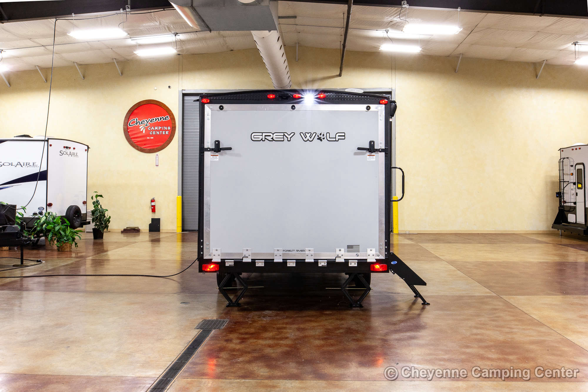 2021 Forest River Cherokee Grey Wolf 19RR Toy Hauler Travel Trailer Exterior Image