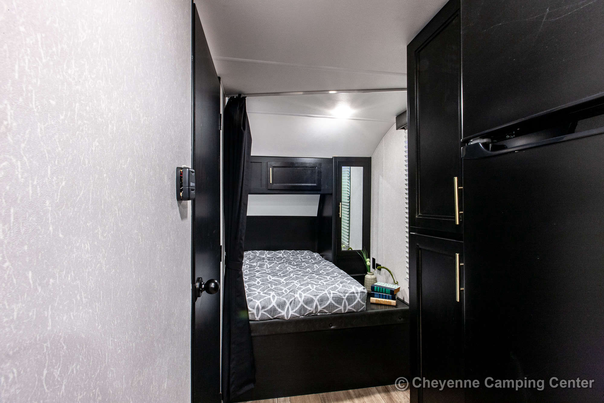 2021 Forest River Cherokee Grey Wolf 19RR Toy Hauler Travel Trailer Interior Image