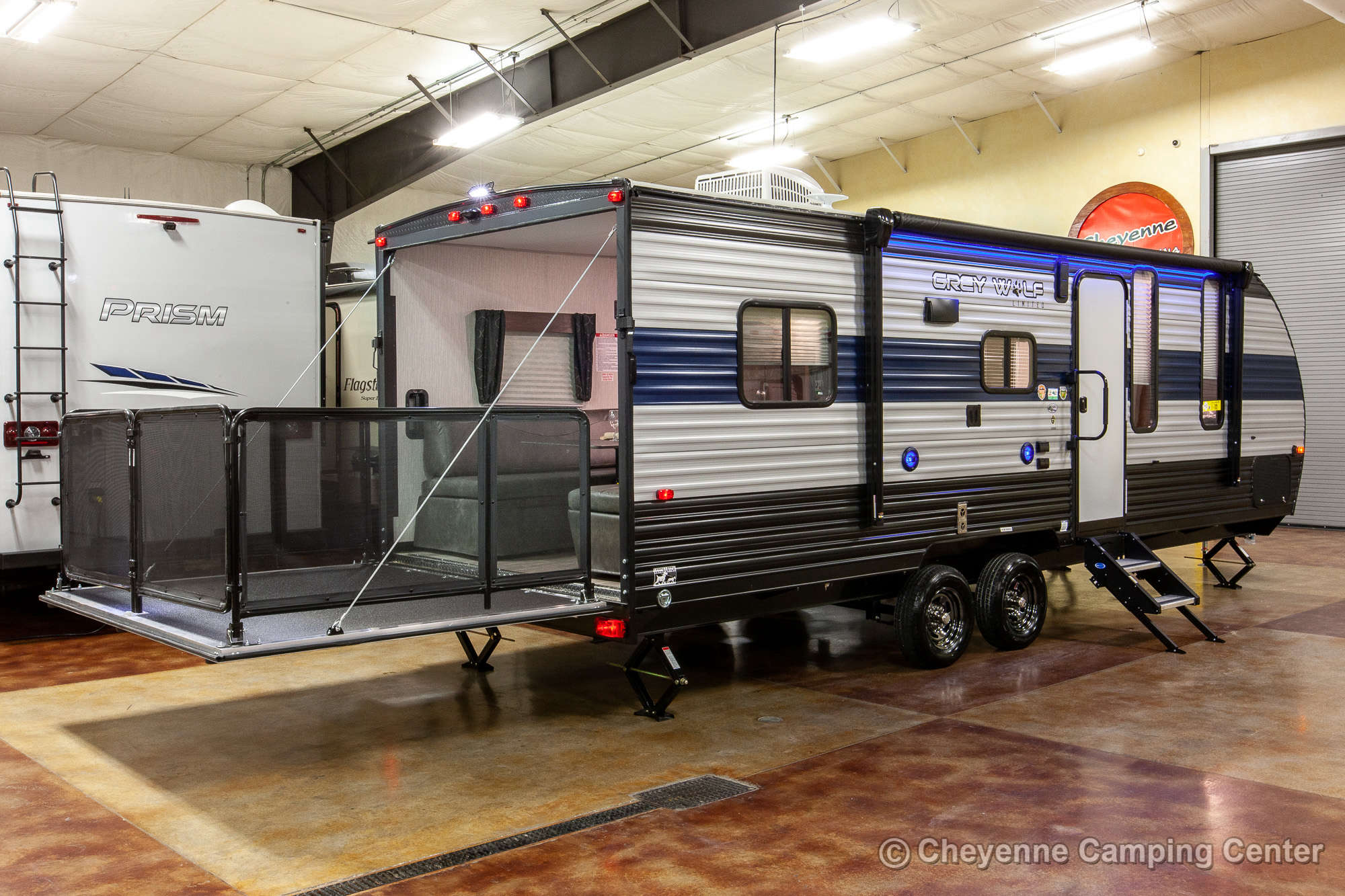 2021 Forest River Cherokee Grey Wolf 22RR Toy Hauler Travel Trailer Exterior Image