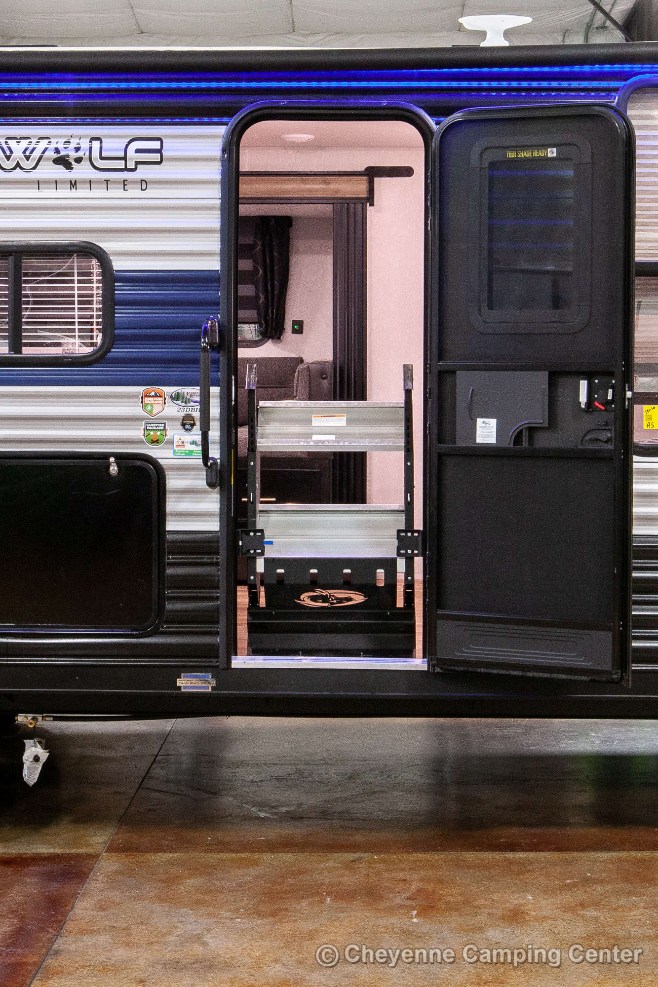 2022 Forest River Cherokee Grey Wolf 23DBH Bunkhouse Travel Trailer Exterior Image
