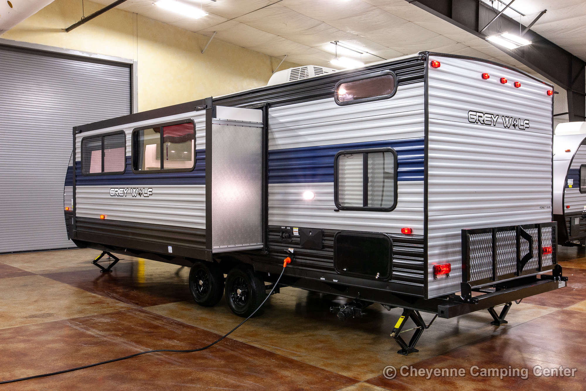 2021 Forest River Cherokee Grey Wolf 26DBH Bunkhouse Travel Trailer Exterior Image