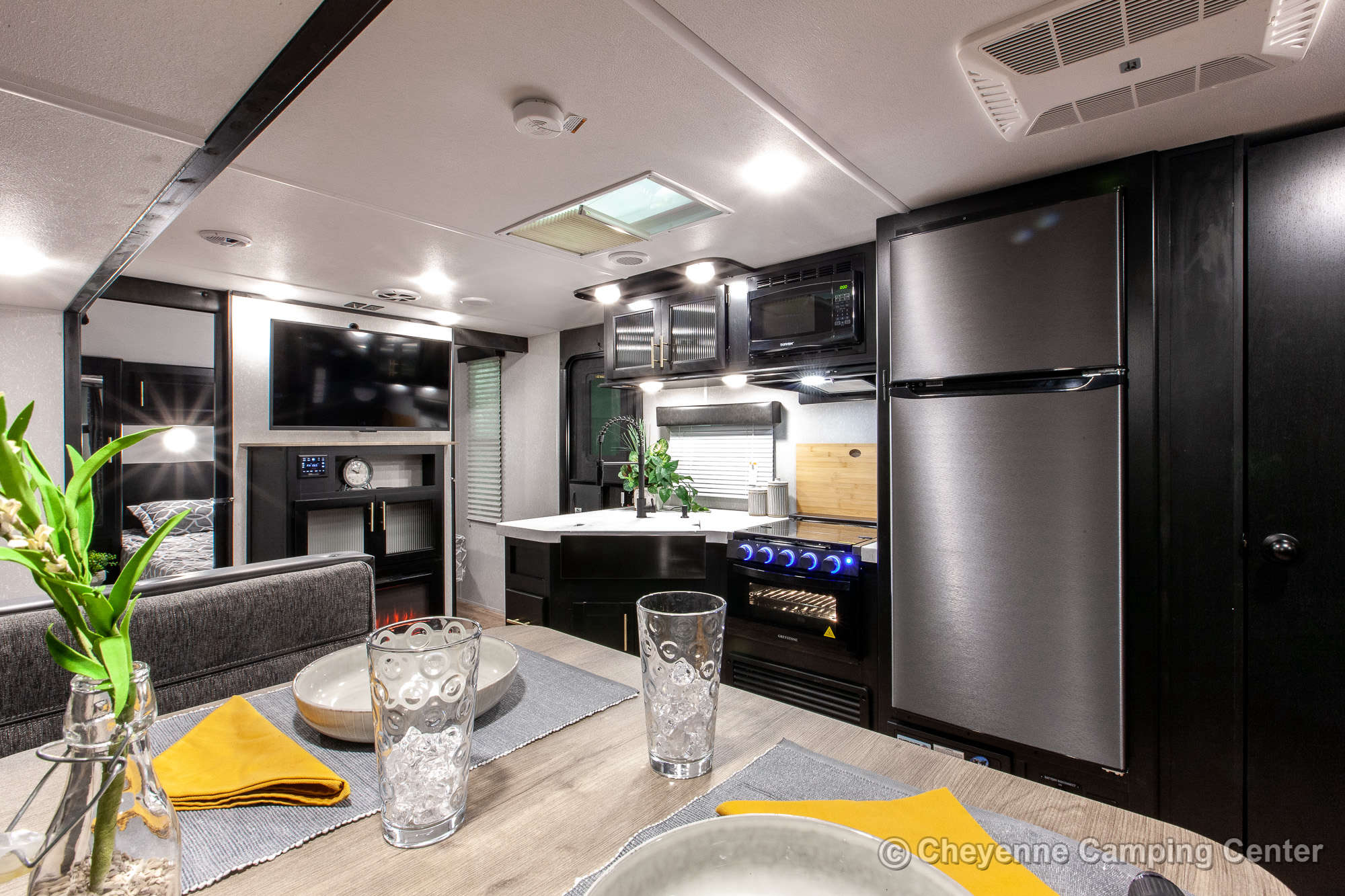 2021 Forest River Cherokee Grey Wolf 26DBH Bunkhouse Travel Trailer Interior Image