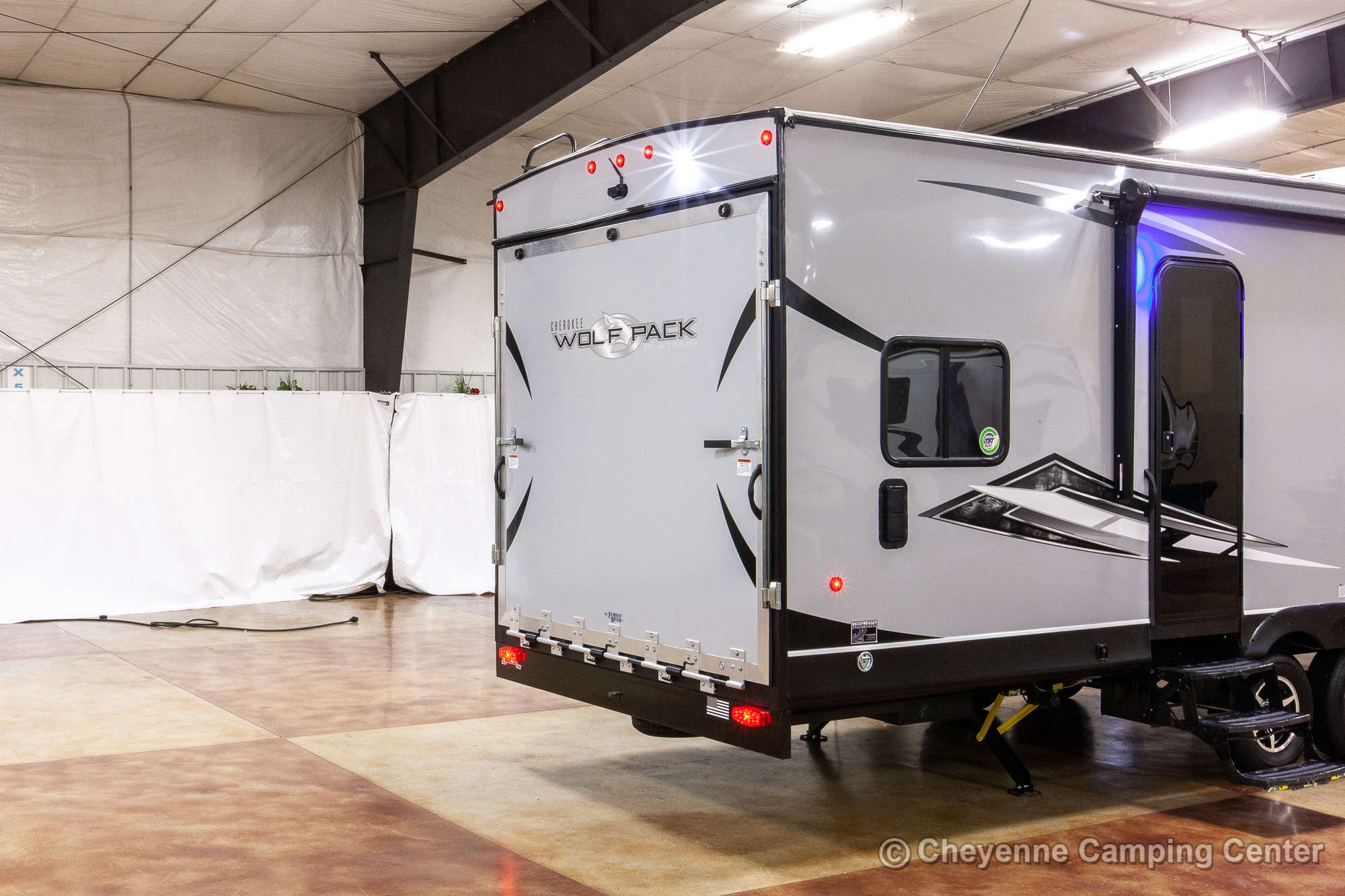 2022 Forest River Cherokee Wolf Pack 25PACK12 Bunkhouse Toy Hauler Travel Trailer Exterior Image