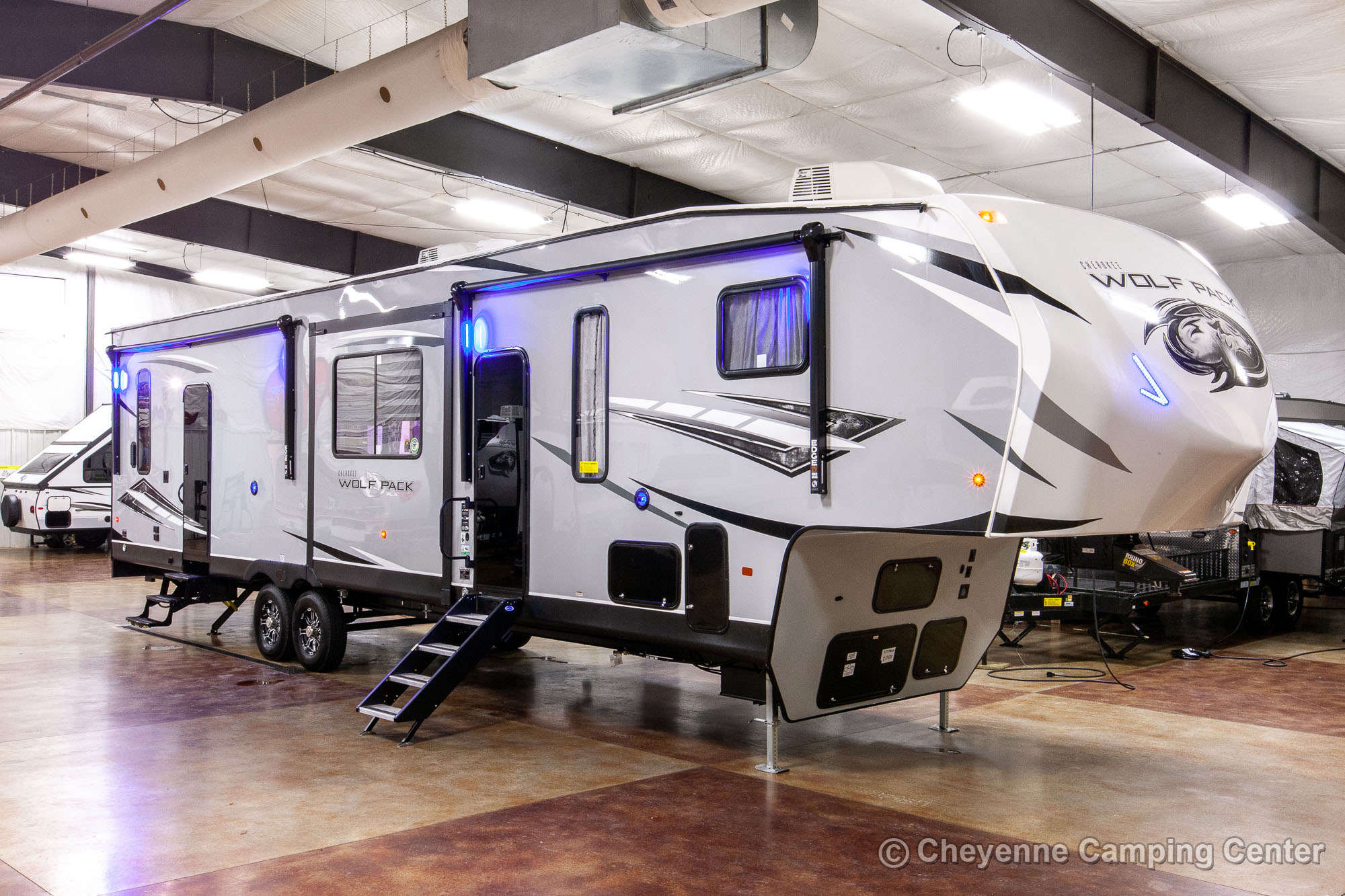 2022 Forest River Cherokee Wolf Pack 355PACK14 Bunkhouse Toy Hauler Fifth Wheel Exterior Image