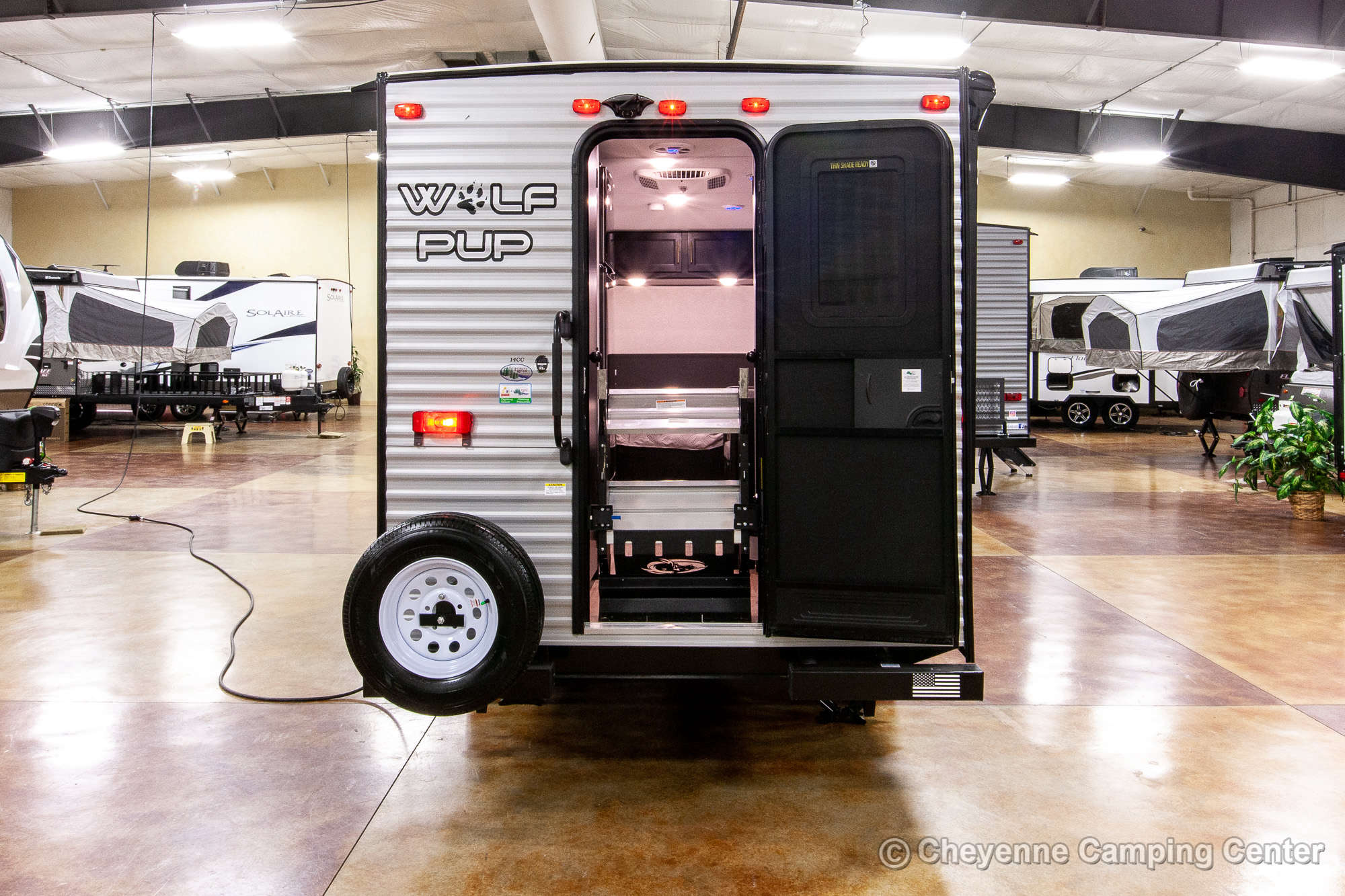 2021 Forest River Cherokee Wolf Pup 14CC Travel Trailer Exterior Image