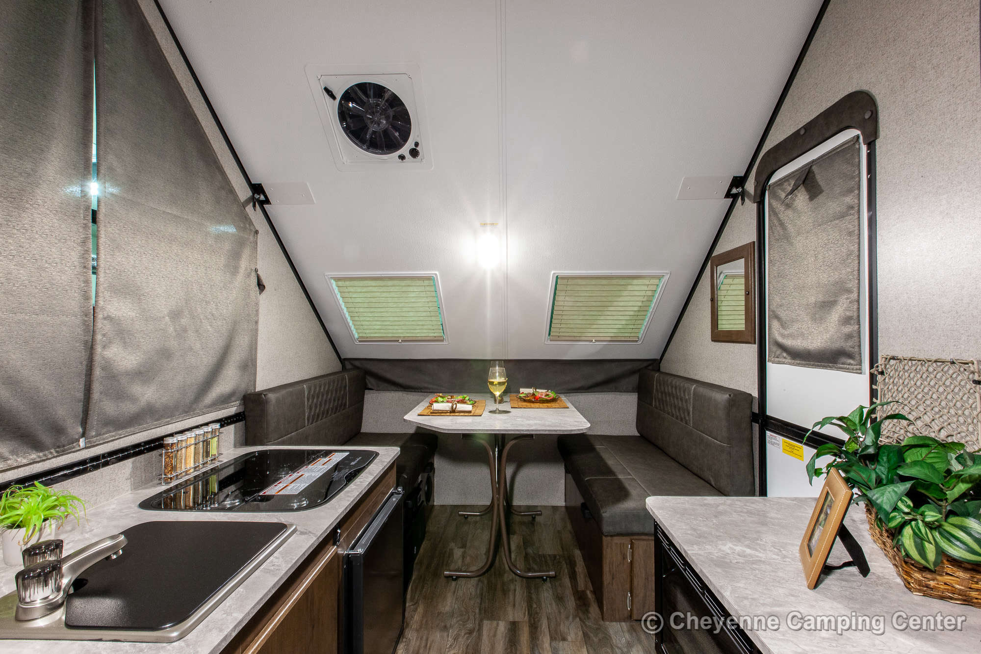 2021 Forest River Flagstaff Hard Side T12RBST Folding Camper Interior Image