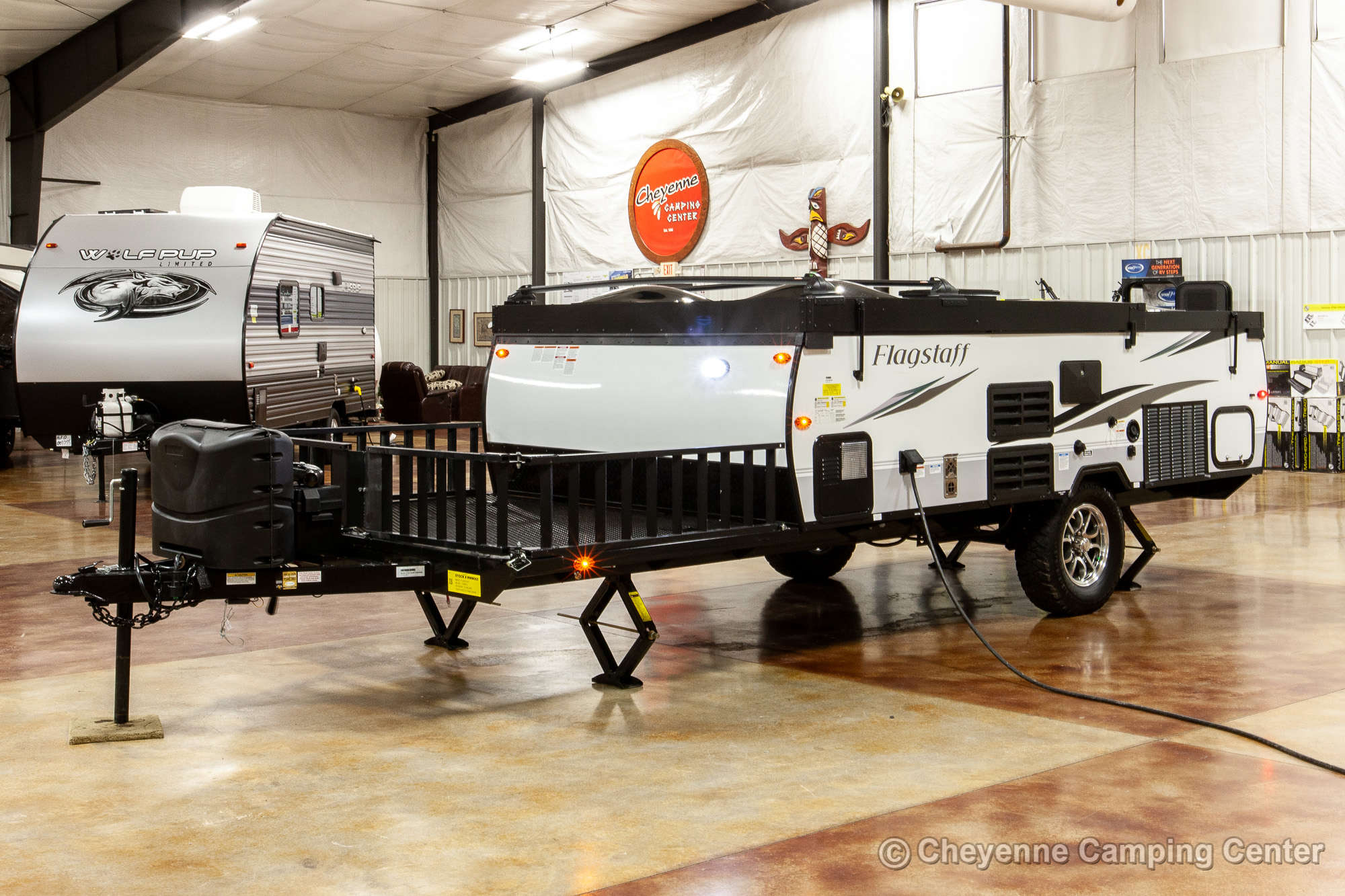 2021 Forest River Flagstaff Hard Side T12RBTH Toy Hauler Folding Camper Exterior Image