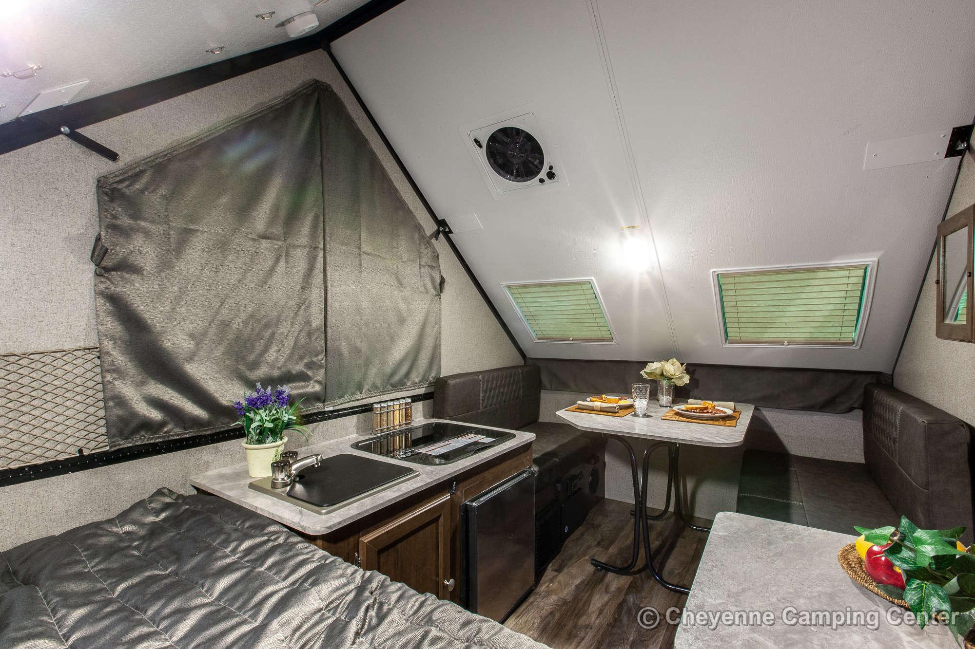 2021 Forest River Flagstaff Hard Side T12RBTH Toy Hauler Folding Camper Interior Image