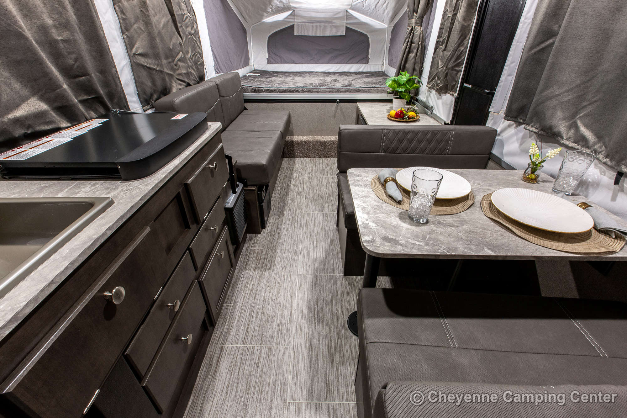 2021 Forest River Flagstaff Sports Enthusiast 207SE Folding Camper Interior Image