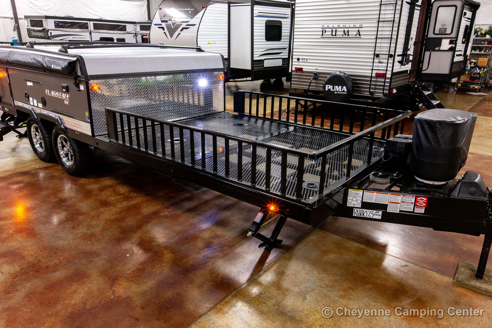 2021 Forest River Flagstaff Sports Enthusiast 28TSCSE Toy Hauler Folding Camper Exterior Image