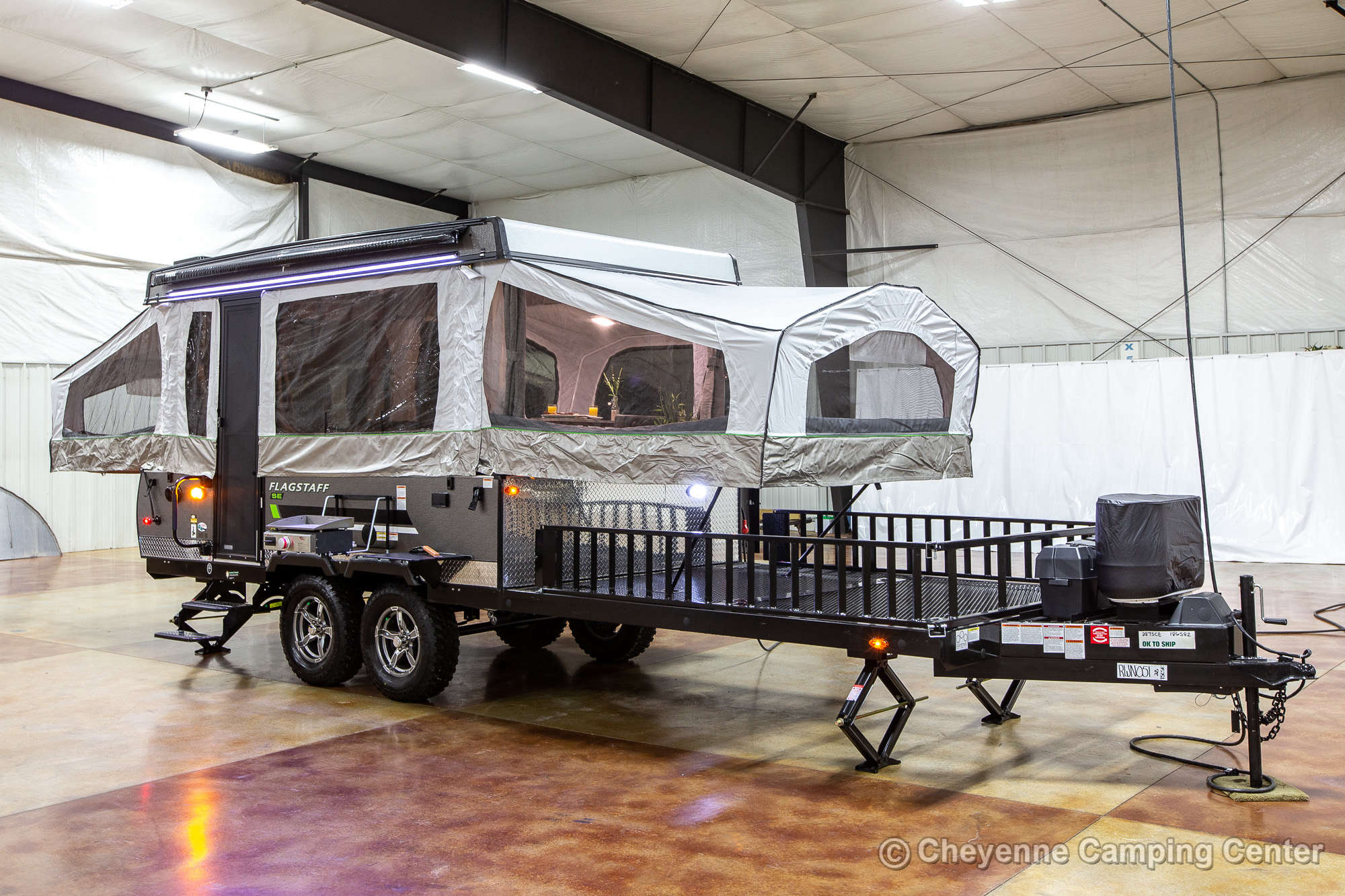 2022 Forest River Flagstaff Sports Enthusiast 28TSCSE Toy Hauler Folding Camper
