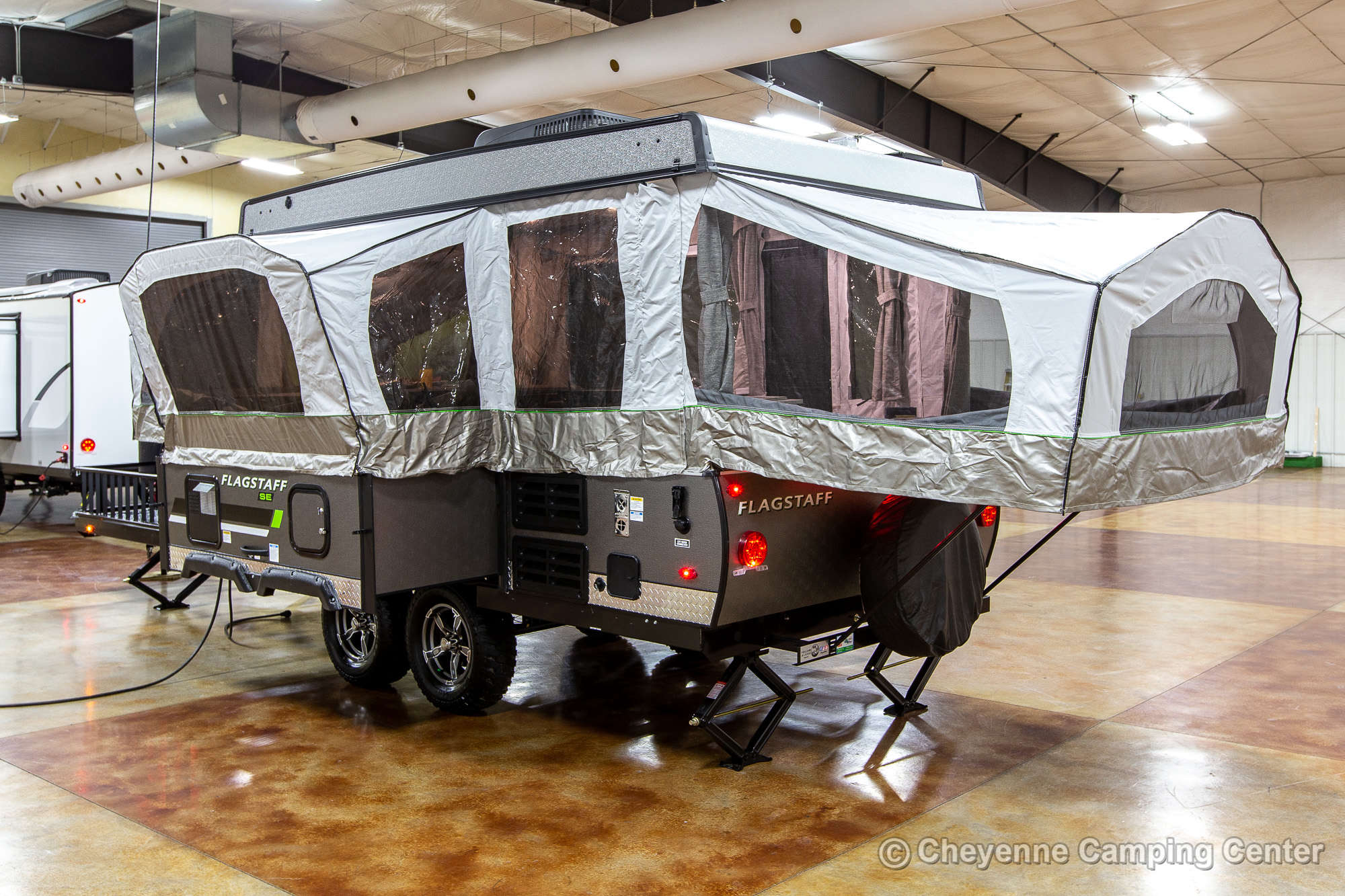 2022 Forest River Flagstaff Sports Enthusiast 28TSCSE Toy Hauler Folding Camper Exterior Image