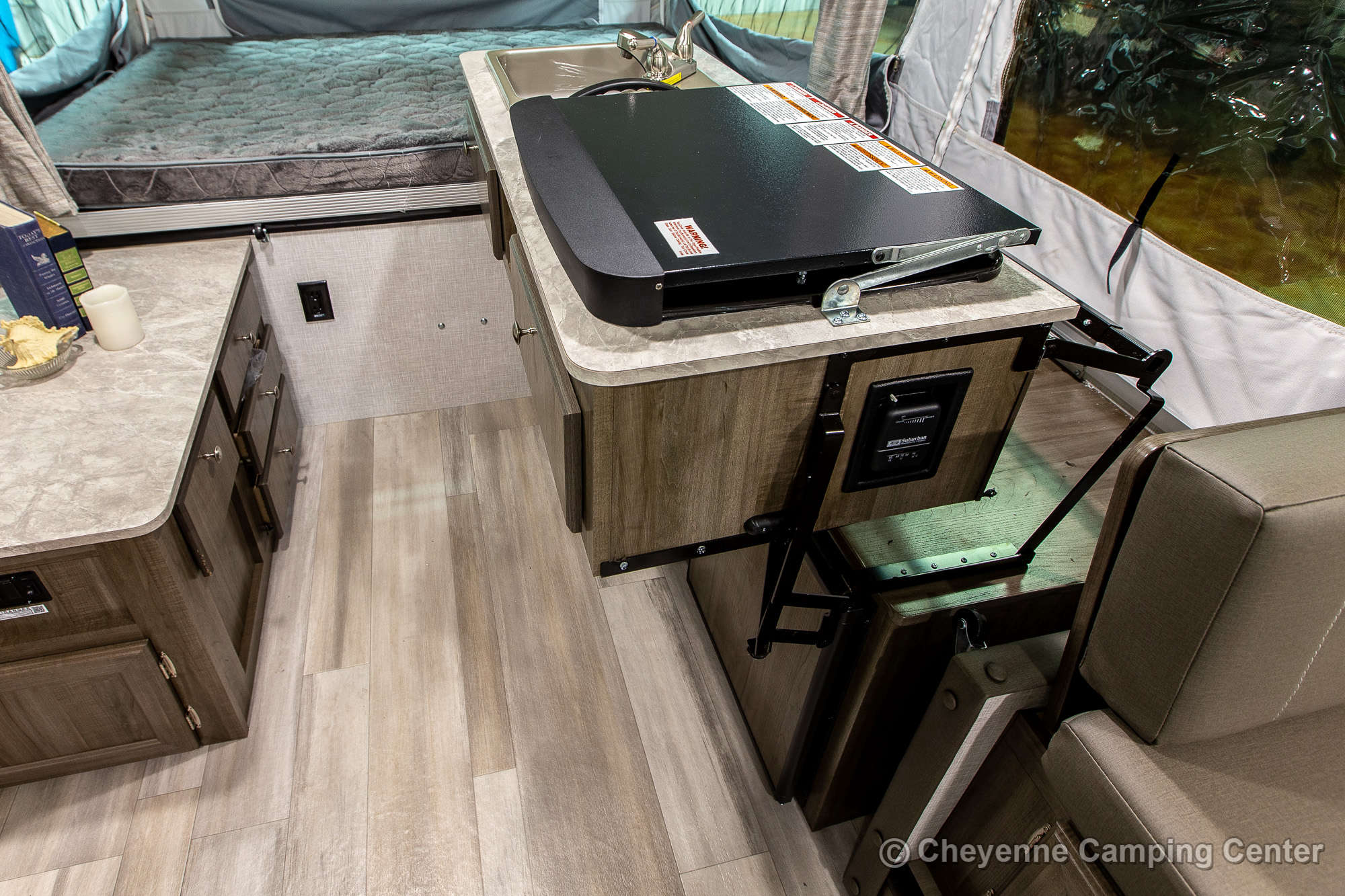 2022 Forest River Flagstaff Sports Enthusiast 28TSCSE Toy Hauler Folding Camper Interior Image