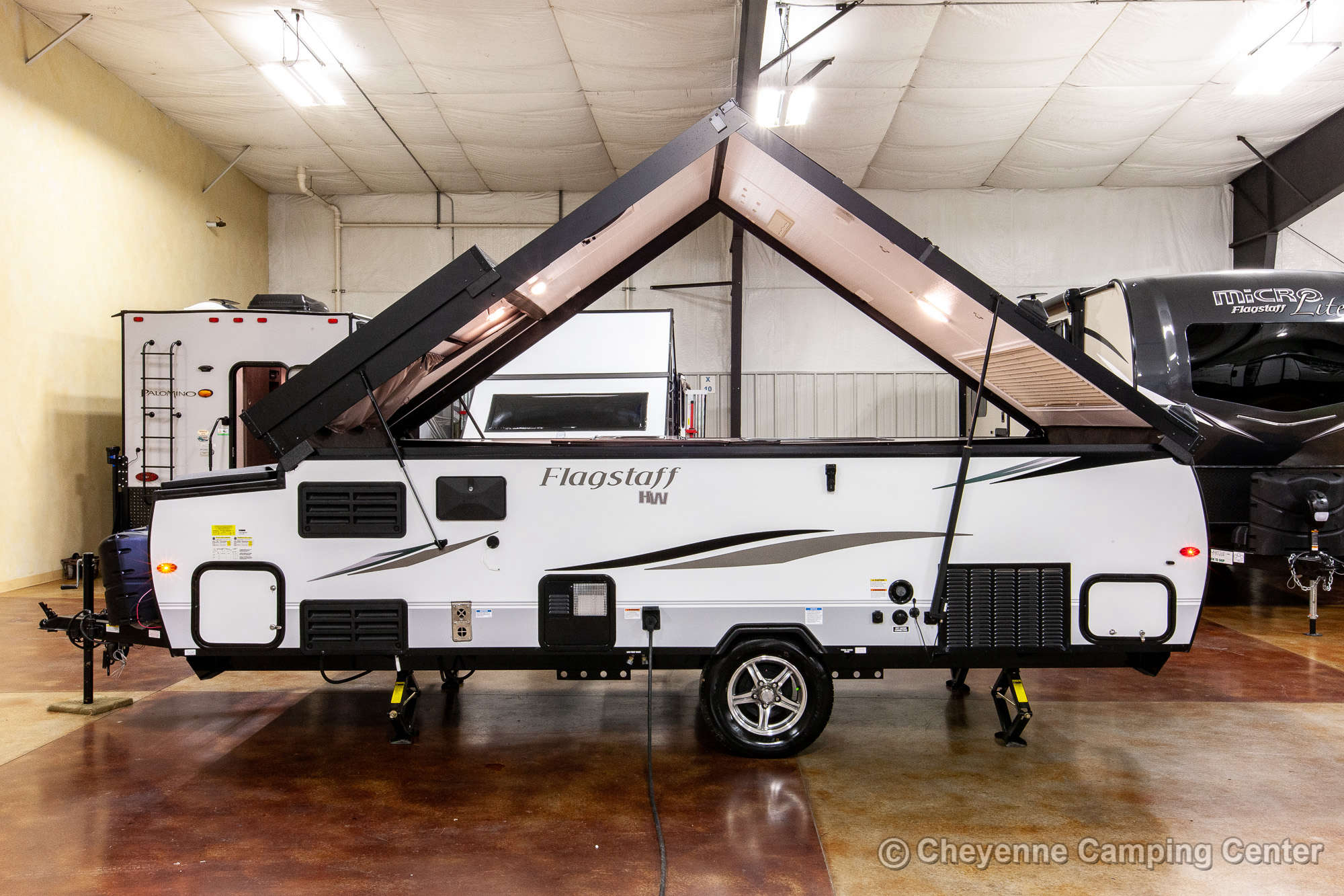 2021 Forest River Flagstaff Hard Side T21DMHW Folding Camper Exterior Image