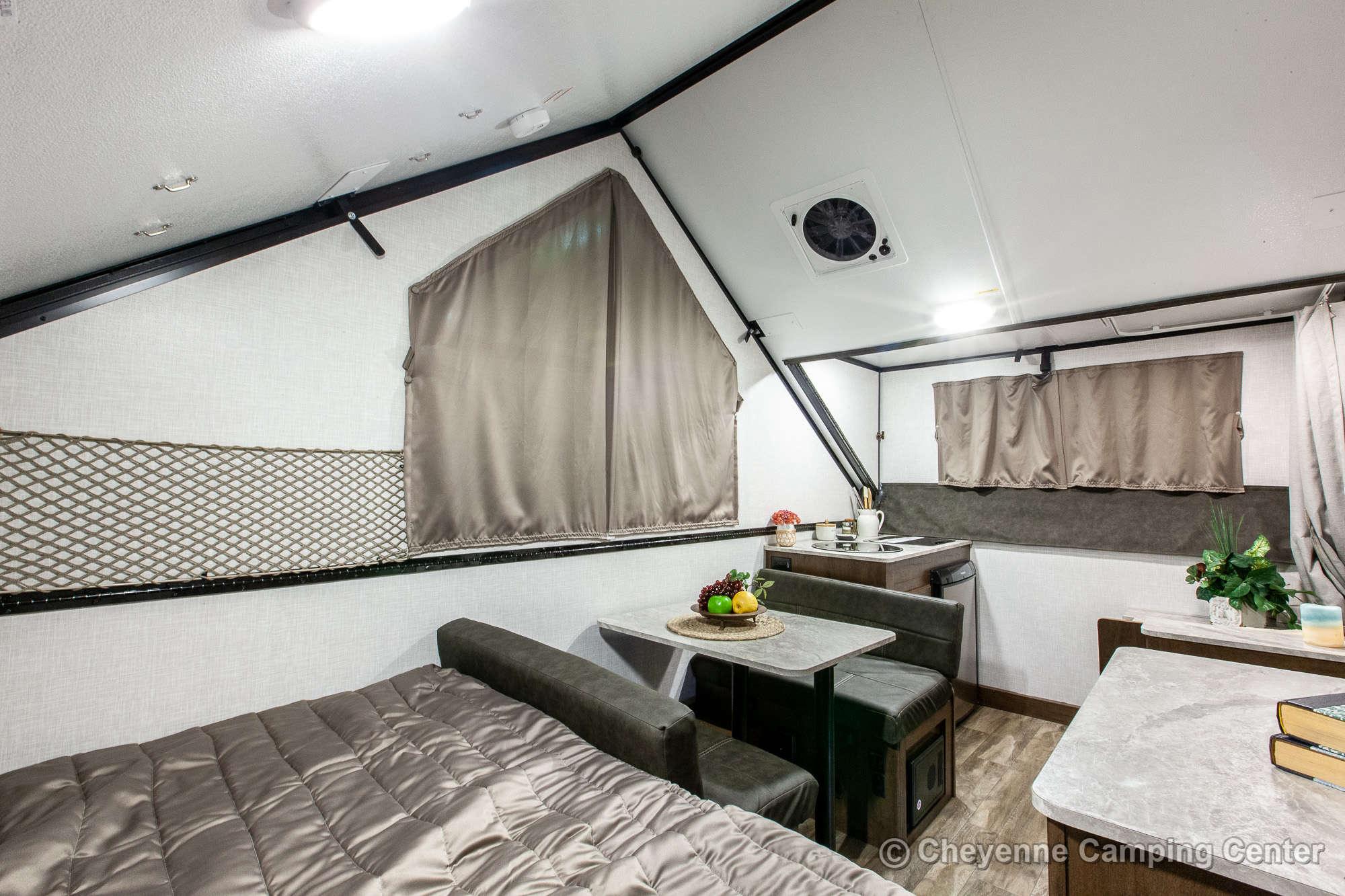 2021 Forest River Flagstaff Hard Side T21DMHW Folding Camper Interior Image