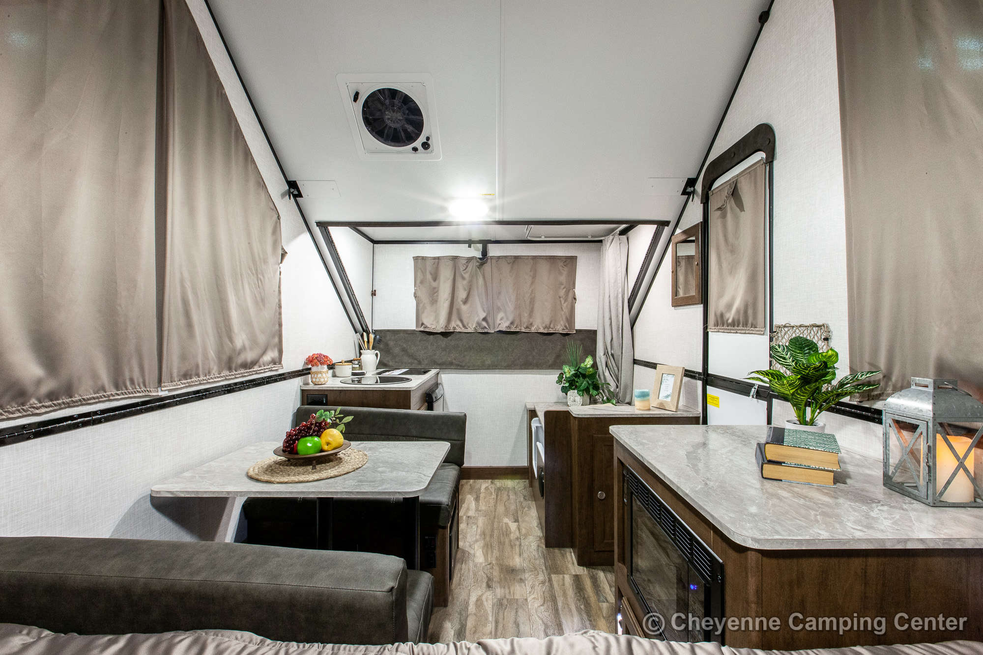 2021 Forest River Flagstaff Hard Side T21DMHW Folding Camper Interior Image