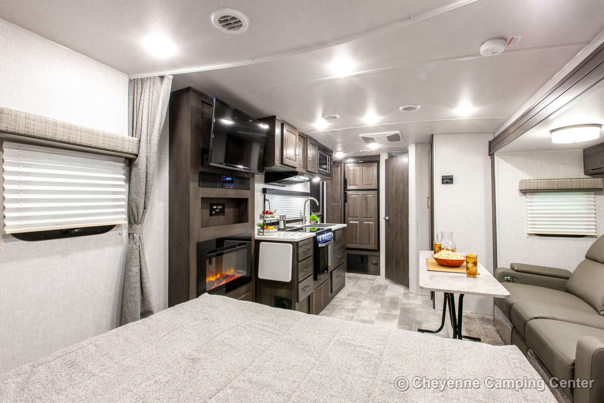 2022 Forest River Flagstaff Micro Lite 22FBS Travel Trailer Interior Image