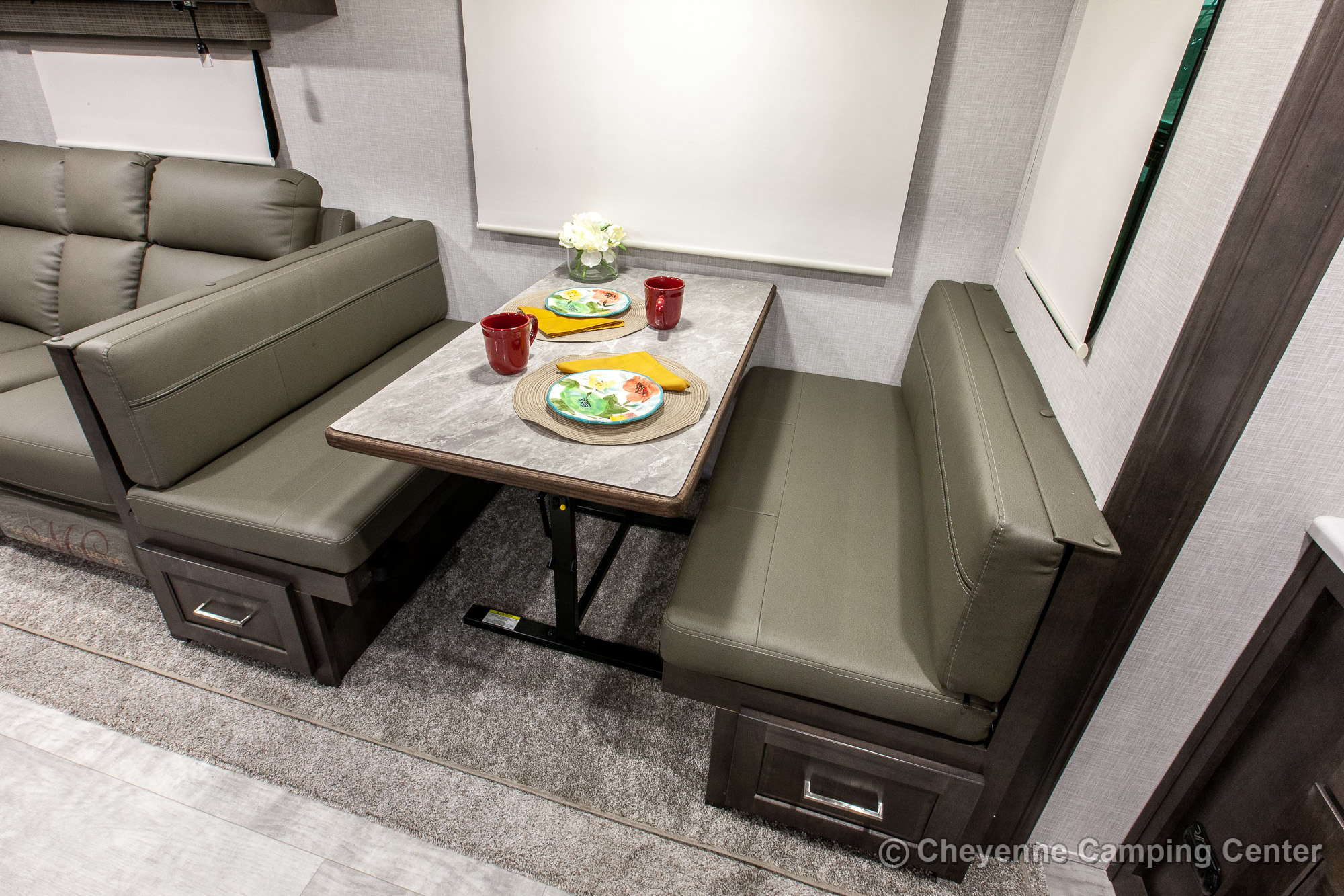 2021 Forest River Flagstaff Super Lite 26FKBS Front Kitchen Travel Trailer Interior Image