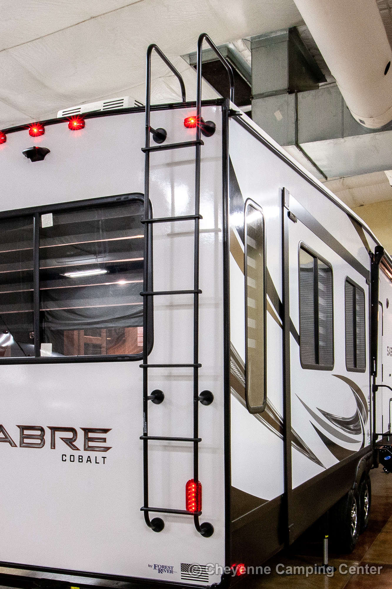 2021 Forest River Sabre Cobalt Edition 36BHQ Bunkhouse Fifth Wheel Exterior Image