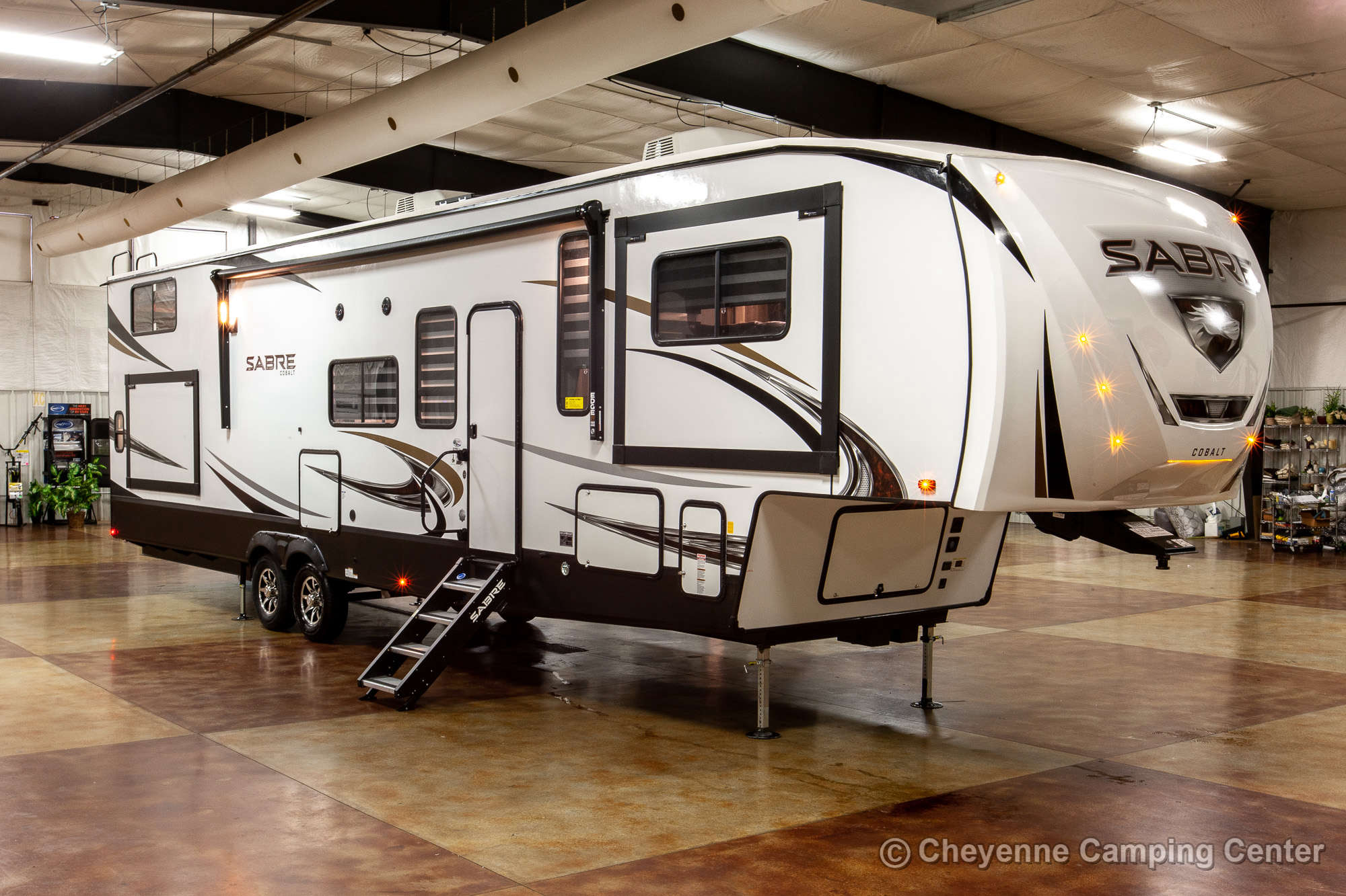 2021 Forest River Sabre Cobalt Edition 37FLL Bunkhouse Fifth Wheel Exterior Image