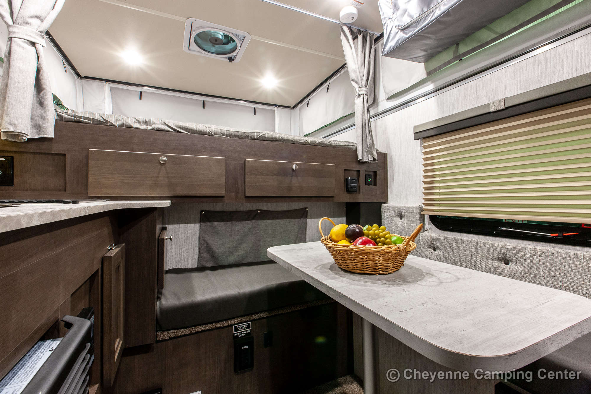 2021 Palomino BackPack SS-1500 Truck Camper Interior Image
