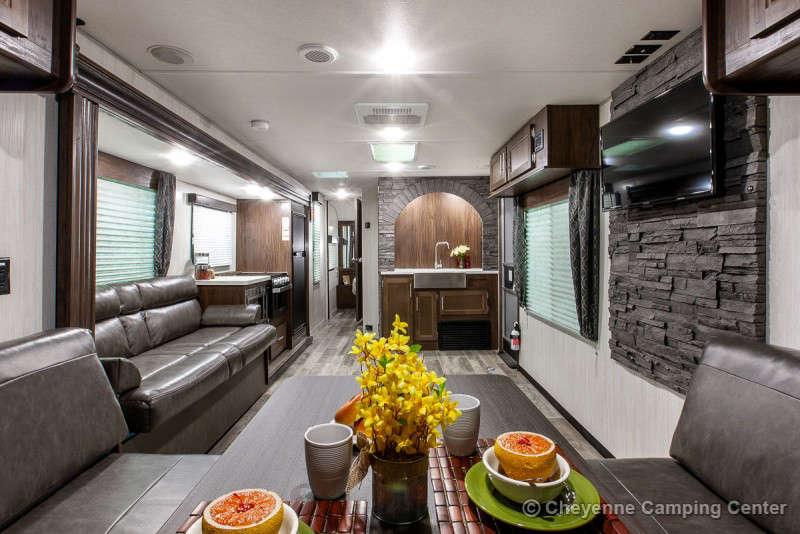 2021 Forest River Cherokee 294RR Toy Hauler Travel Trailer Interior Image