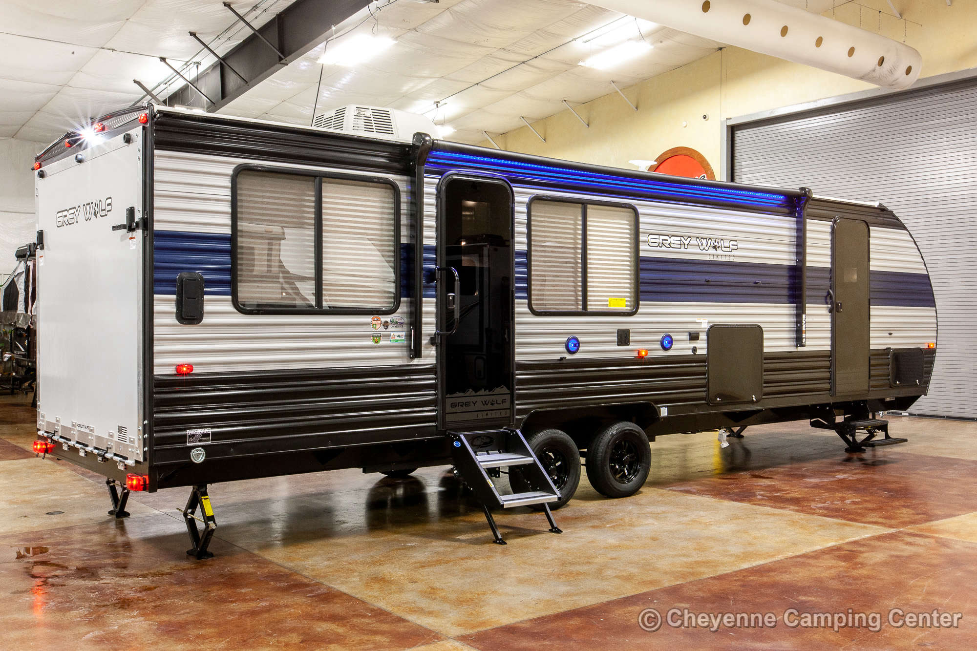 2021 Forest River Cherokee Grey Wolf 26MBRR Toy Hauler Travel Trailer Exterior Image