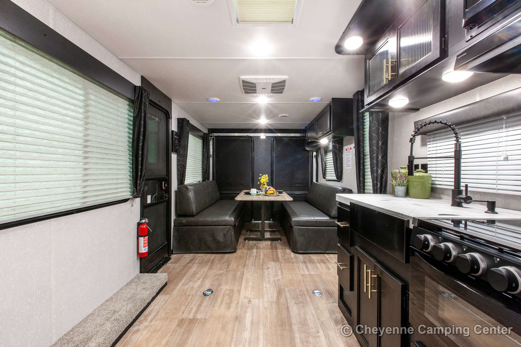 2021 Forest River Cherokee Grey Wolf 26MBRR Toy Hauler Travel Trailer Interior Image