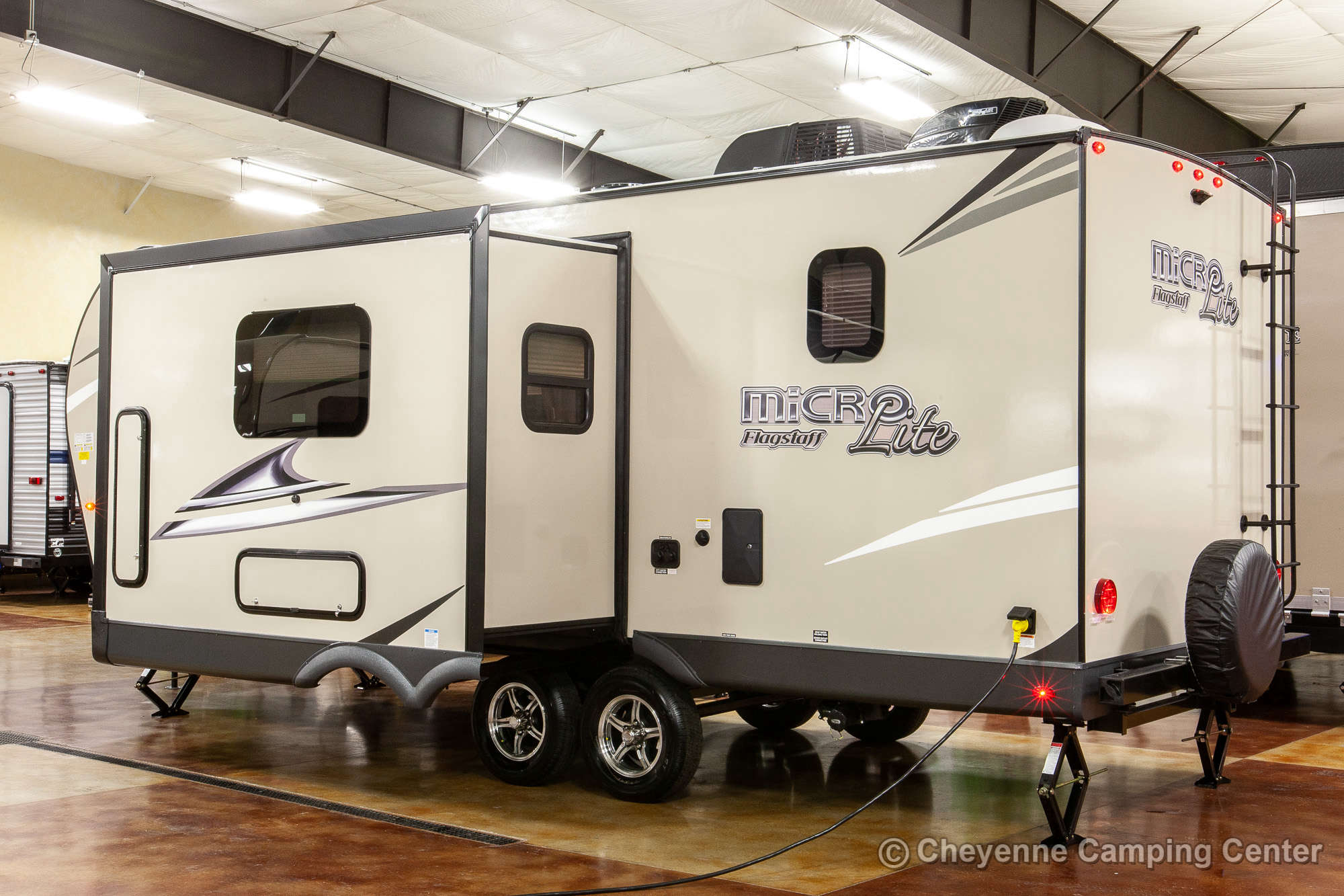 2021 Forest River Flagstaff Micro Lite 25BRDS Bunkhouse Travel Trailer Exterior Image