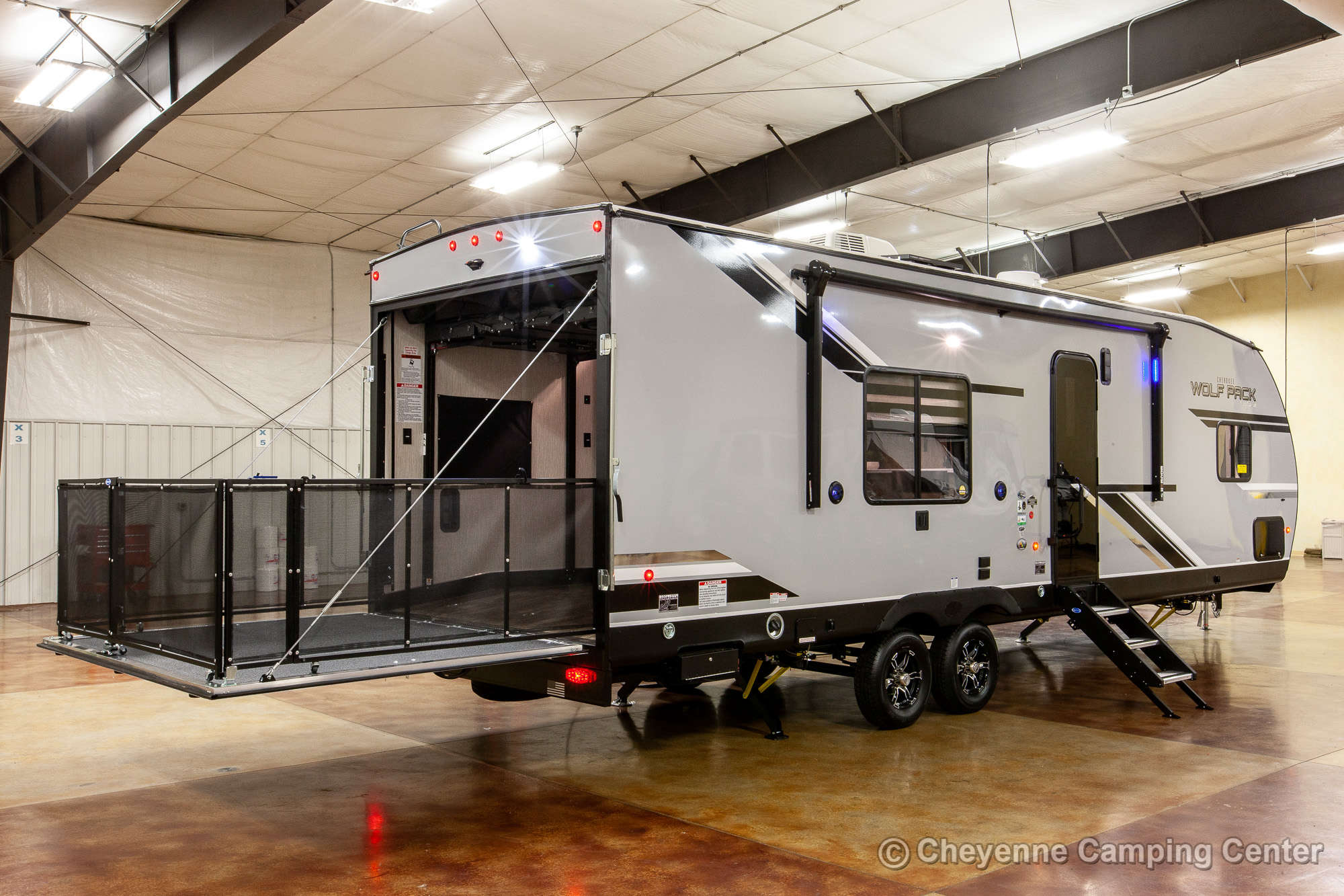 2021 Forest River Cherokee Wolf Pack 23PACK15 Bunkhouse Toy Hauler Travel Trailer Exterior Image