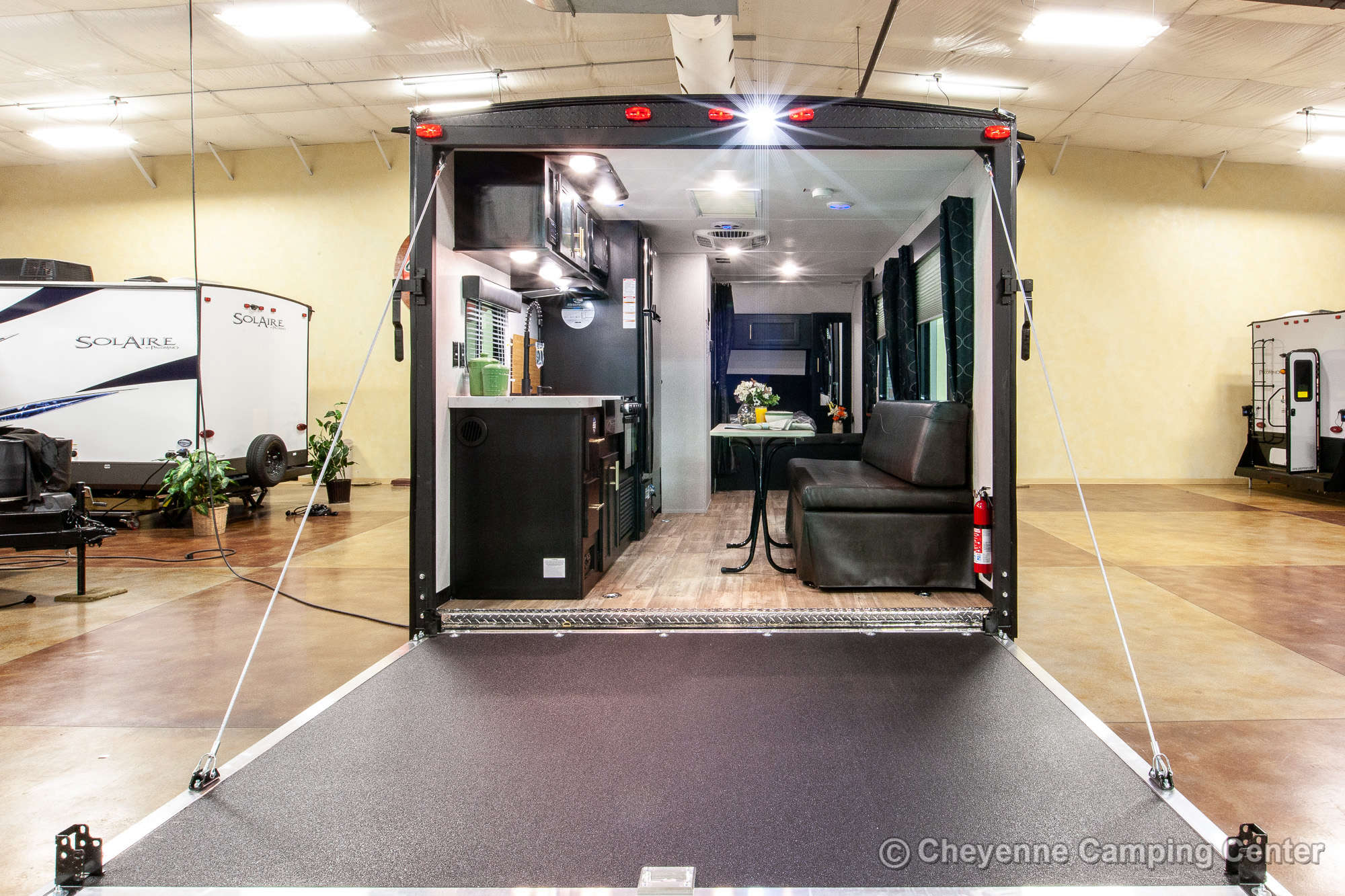 2021 Forest River Cherokee Grey Wolf 18RR Toy Hauler Travel Trailer Exterior Image