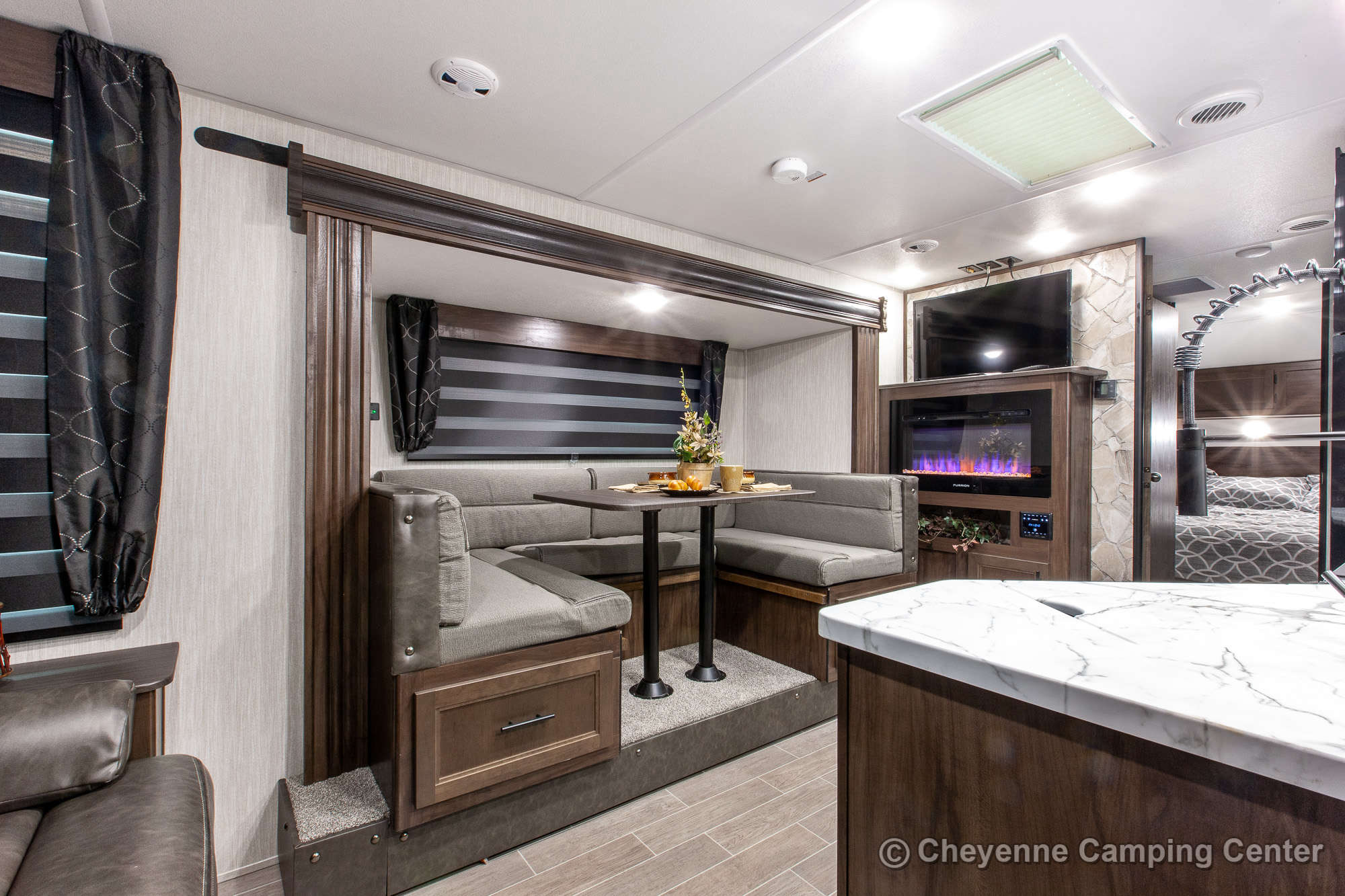 2021 Forest River Cherokee Grey Wolf 23MK Travel Trailer Interior Image