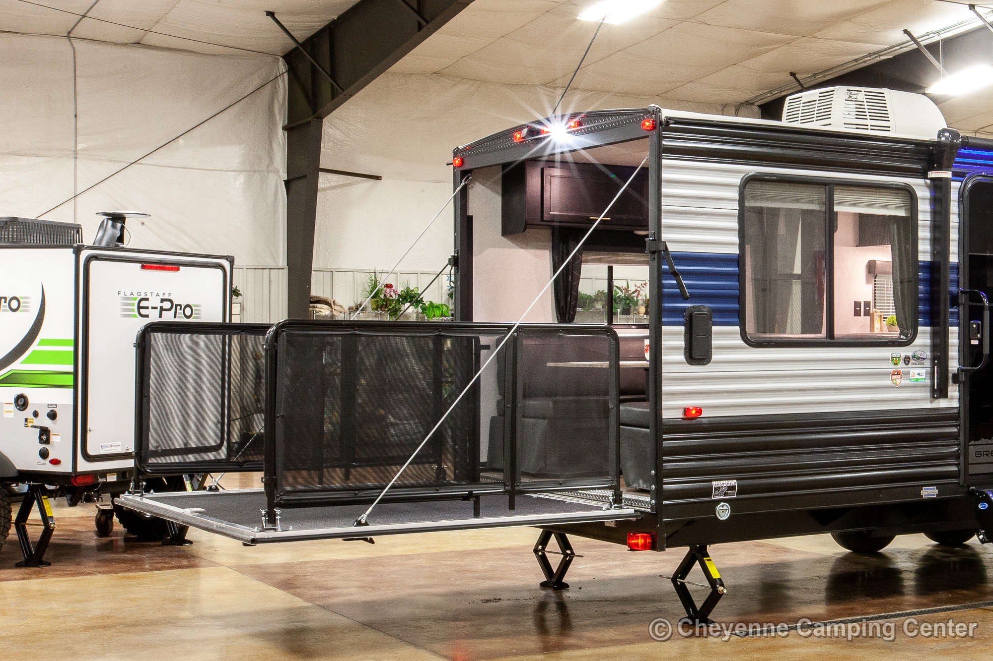 2022 Forest River Cherokee Grey Wolf 26MBRR Toy Hauler Travel Trailer Exterior Image