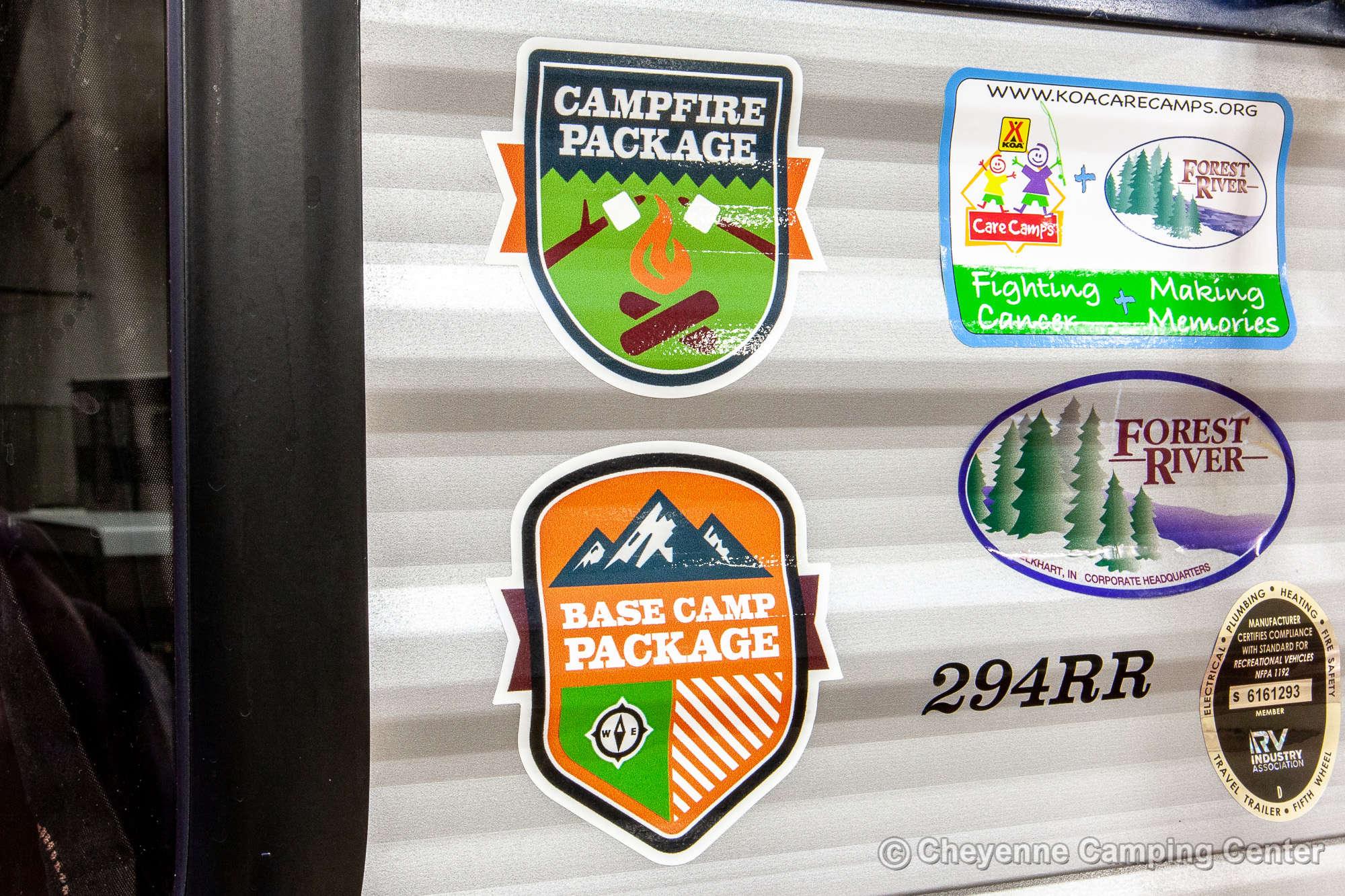 2021 Forest River Cherokee 294RR Toy Hauler Travel Trailer Exterior Image