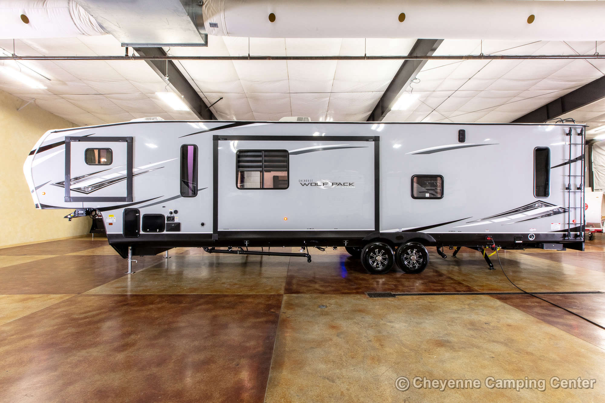 2022 Forest River Cherokee Wolf Pack 365PACK16 Bunkhouse Toy Hauler Fifth Wheel Exterior Image