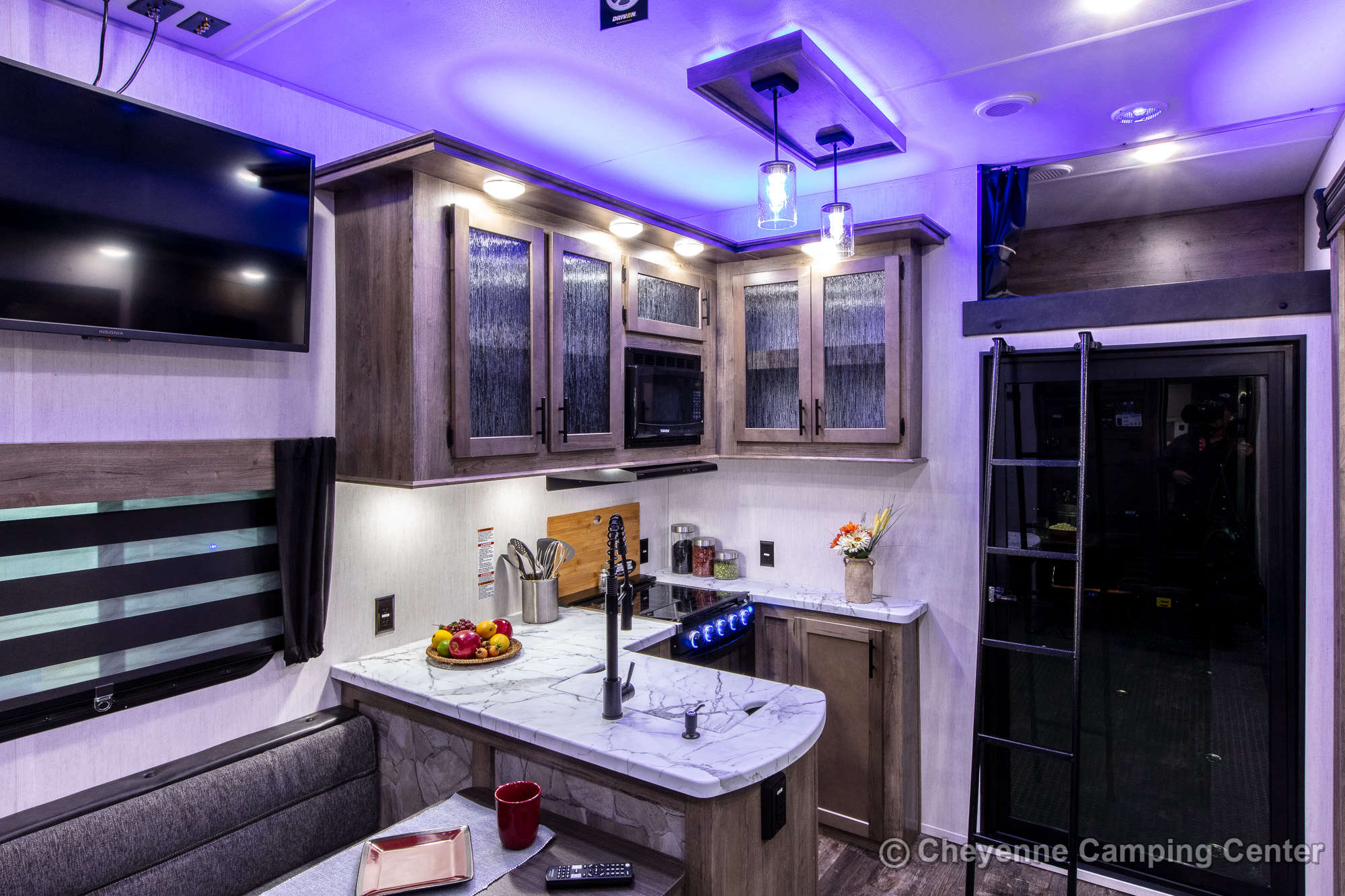 2022 Forest River Cherokee Wolf Pack 365PACK16 Bunkhouse Toy Hauler Fifth Wheel Interior Image