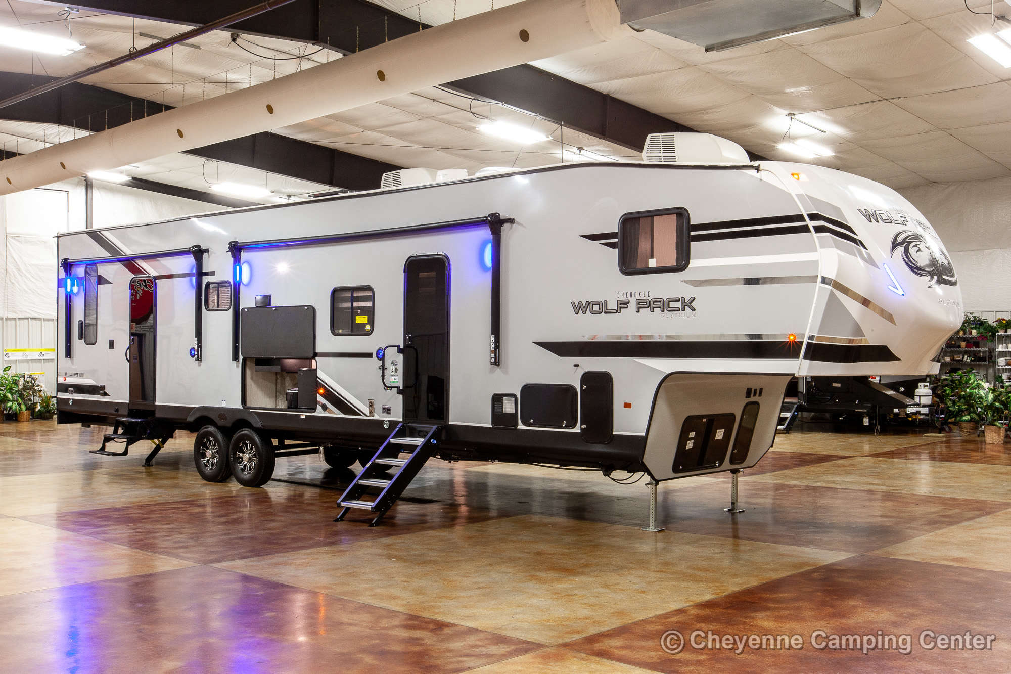 2021 Forest River Cherokee Wolf Pack 365PACK16 Bunkhouse Toy Hauler Fifth Wheel Exterior Image