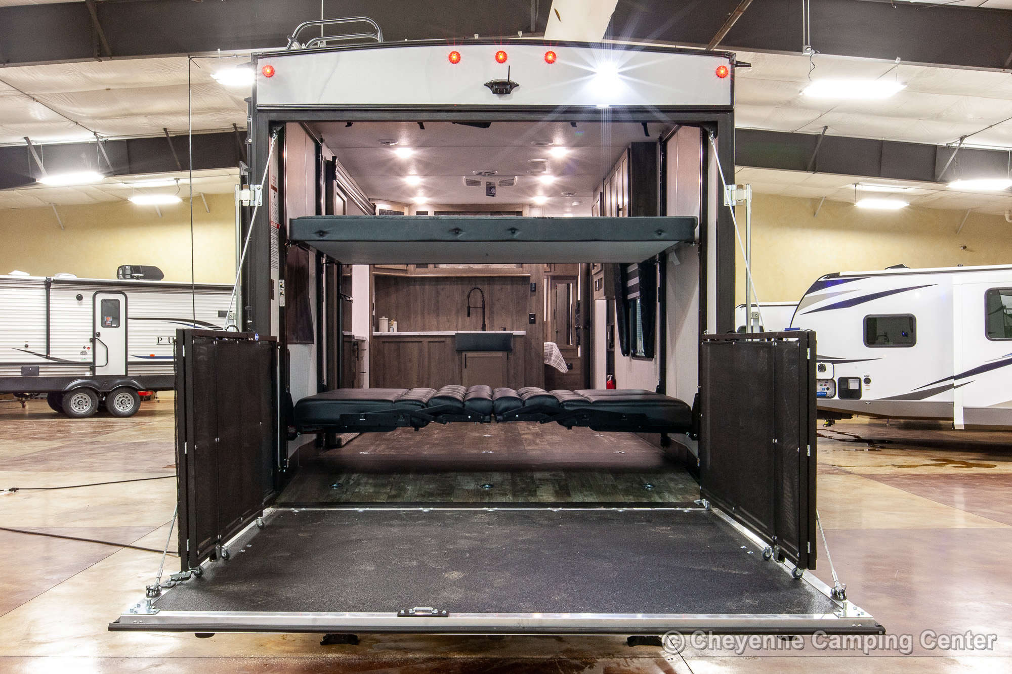 2022 Forest River Cherokee Wolf Pack 23PACK15 Bunkhouse Toy Hauler Travel Trailer Exterior Image