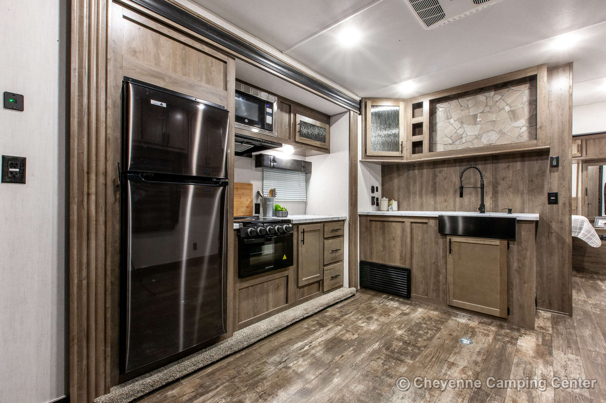 2022 Forest River Cherokee Wolf Pack 23PACK15 Bunkhouse Toy Hauler Travel Trailer Interior Image