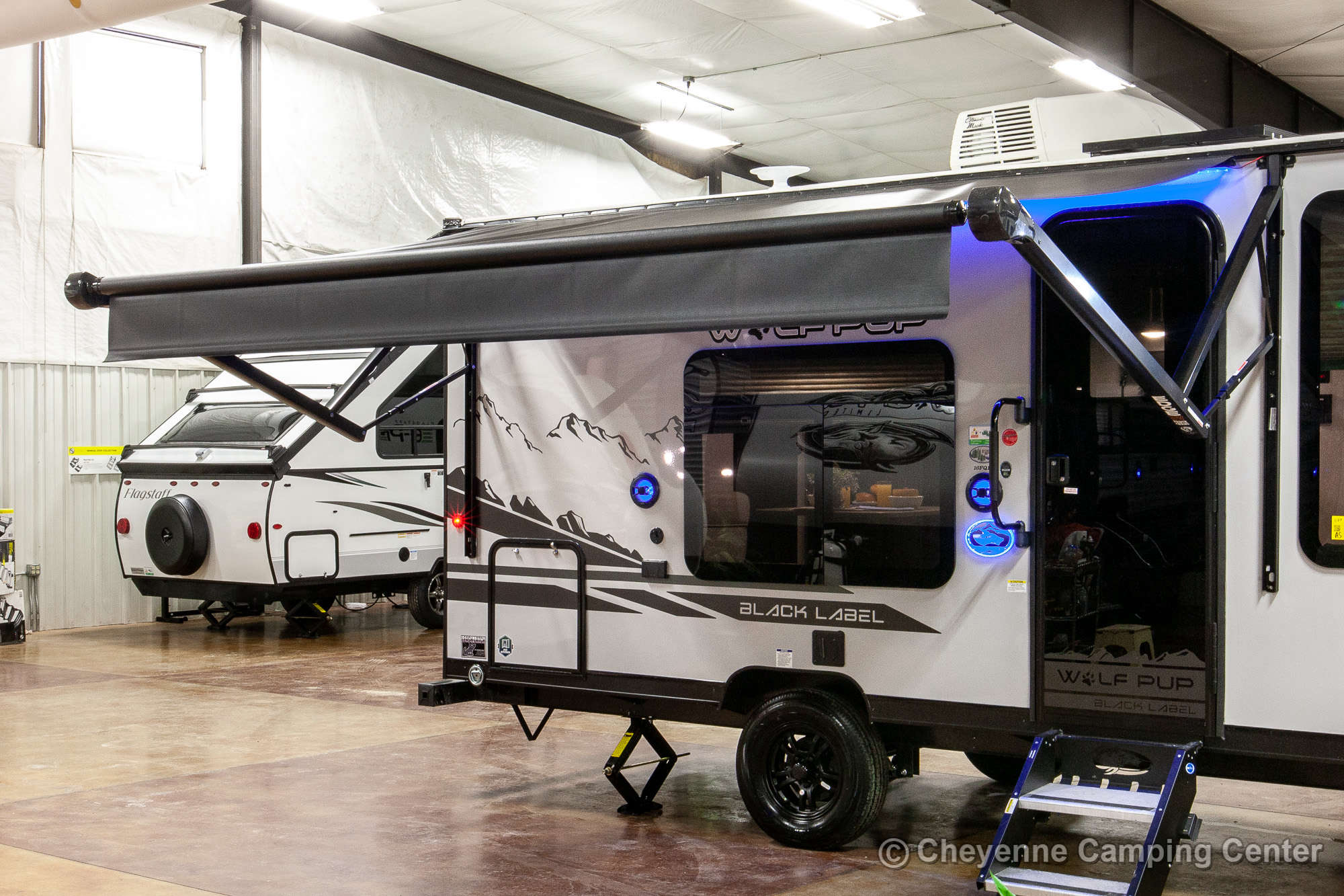 2021 Forest River Cherokee Wolf Pup Black Label 16FQBL Travel Trailer Exterior Image