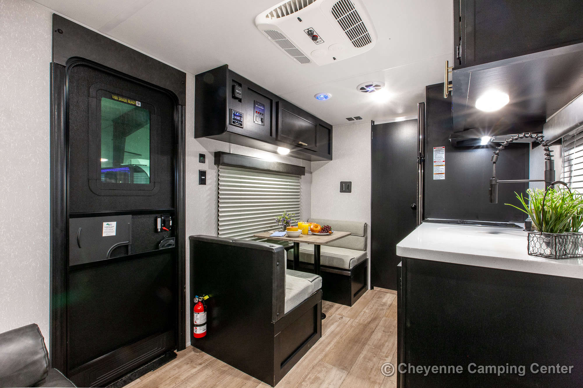 2021 Forest River Cherokee Wolf Pup Black Label 16FQBL Travel Trailer Interior Image