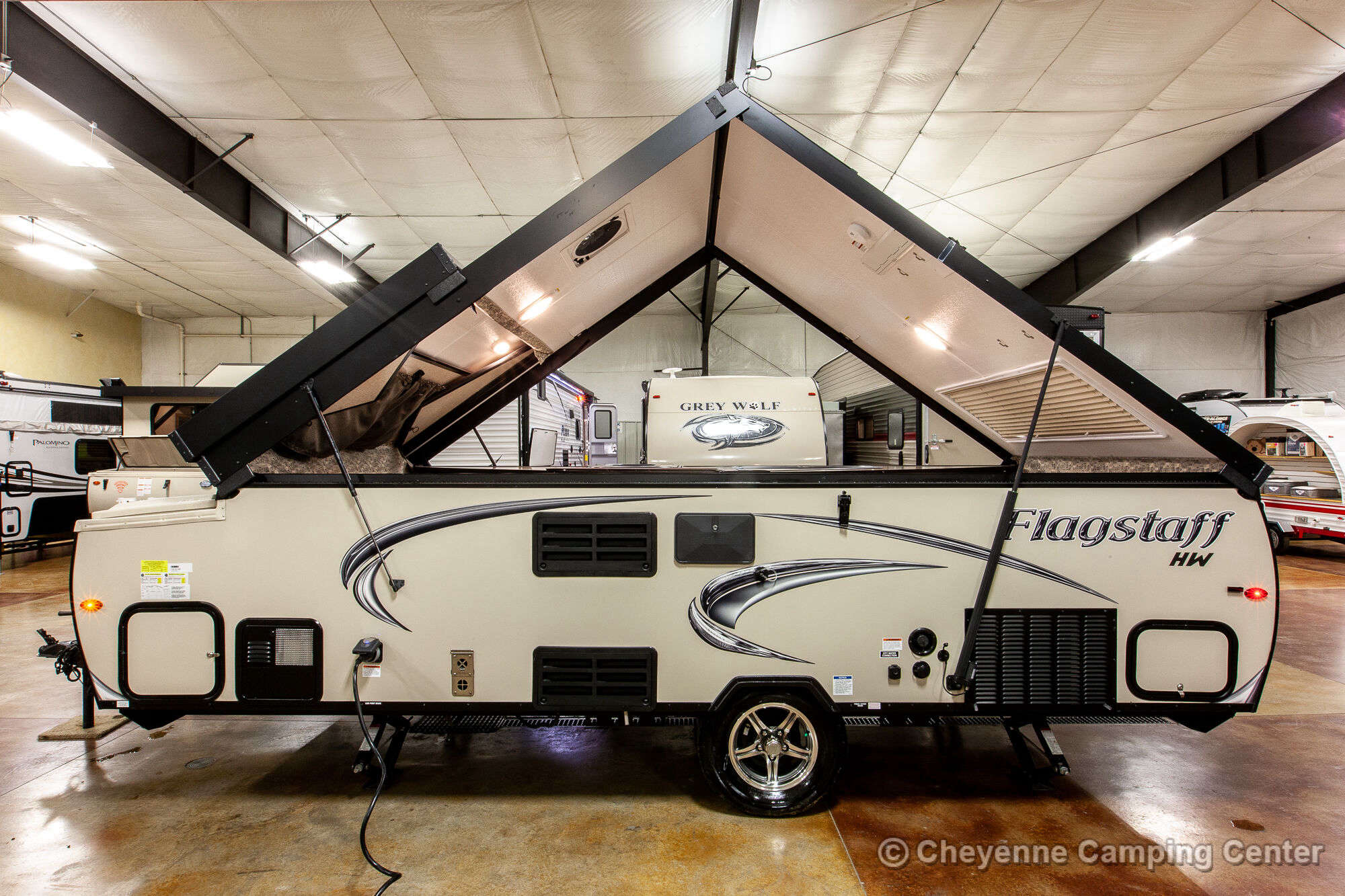 2019 Forest River Flagstaff High Wall T21TBHW Folding Camper Exterior Image