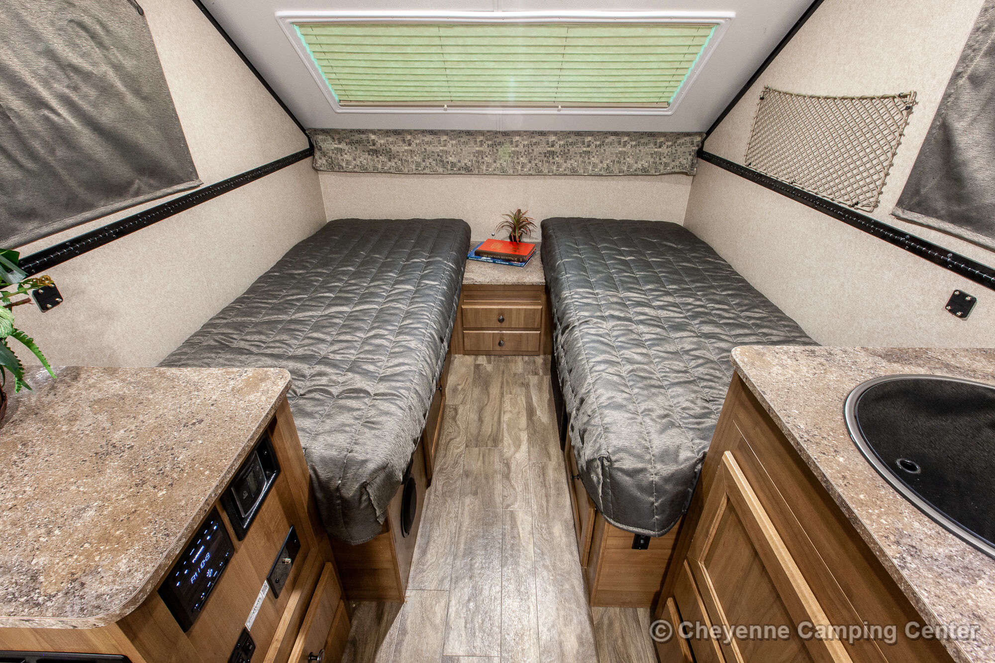 2019 Forest River Flagstaff High Wall T21TBHW Folding Camper Interior Image