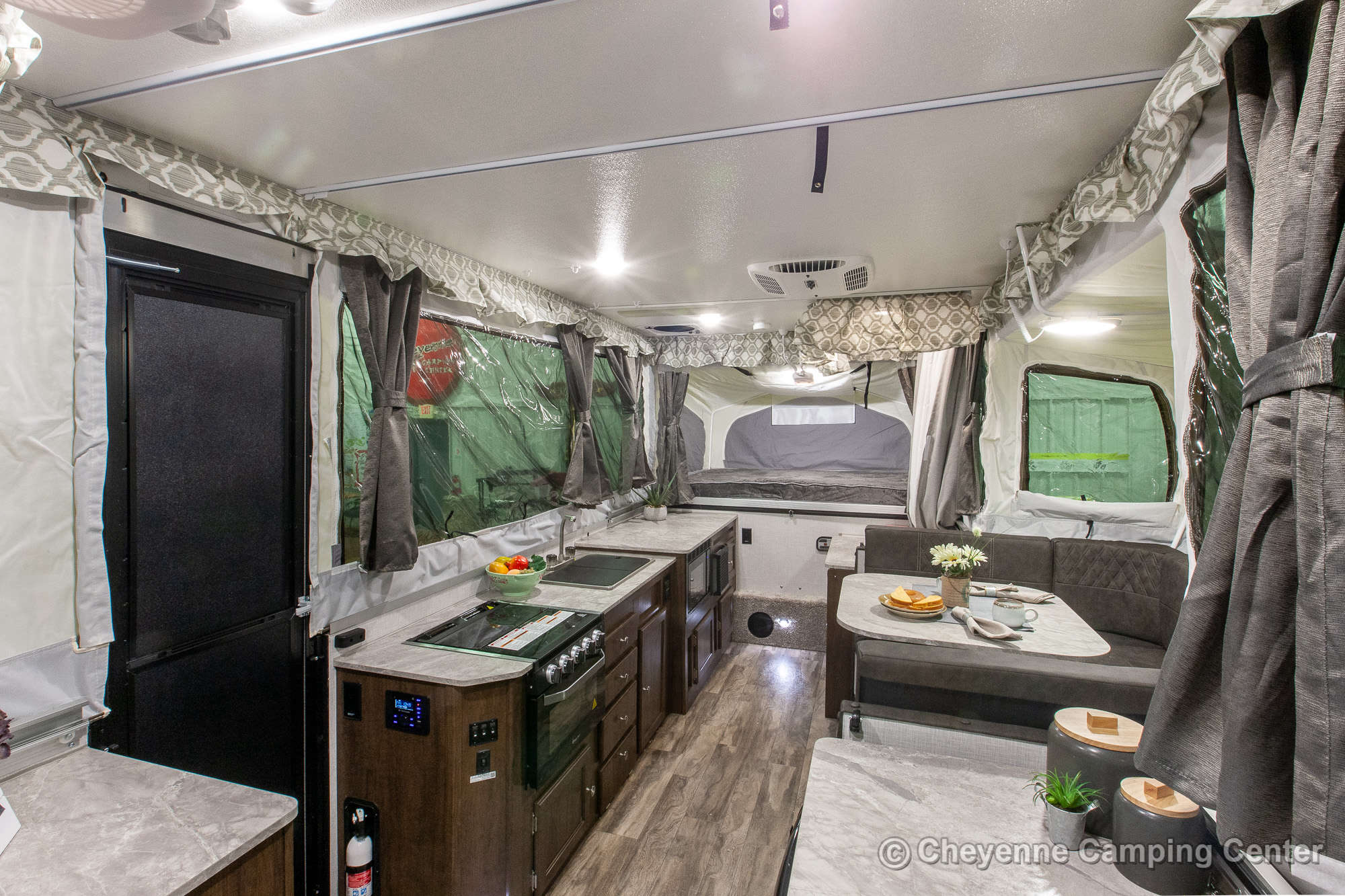 2021 Forest River Flagstaff High Wall HW27KS Folding Camper Interior Image