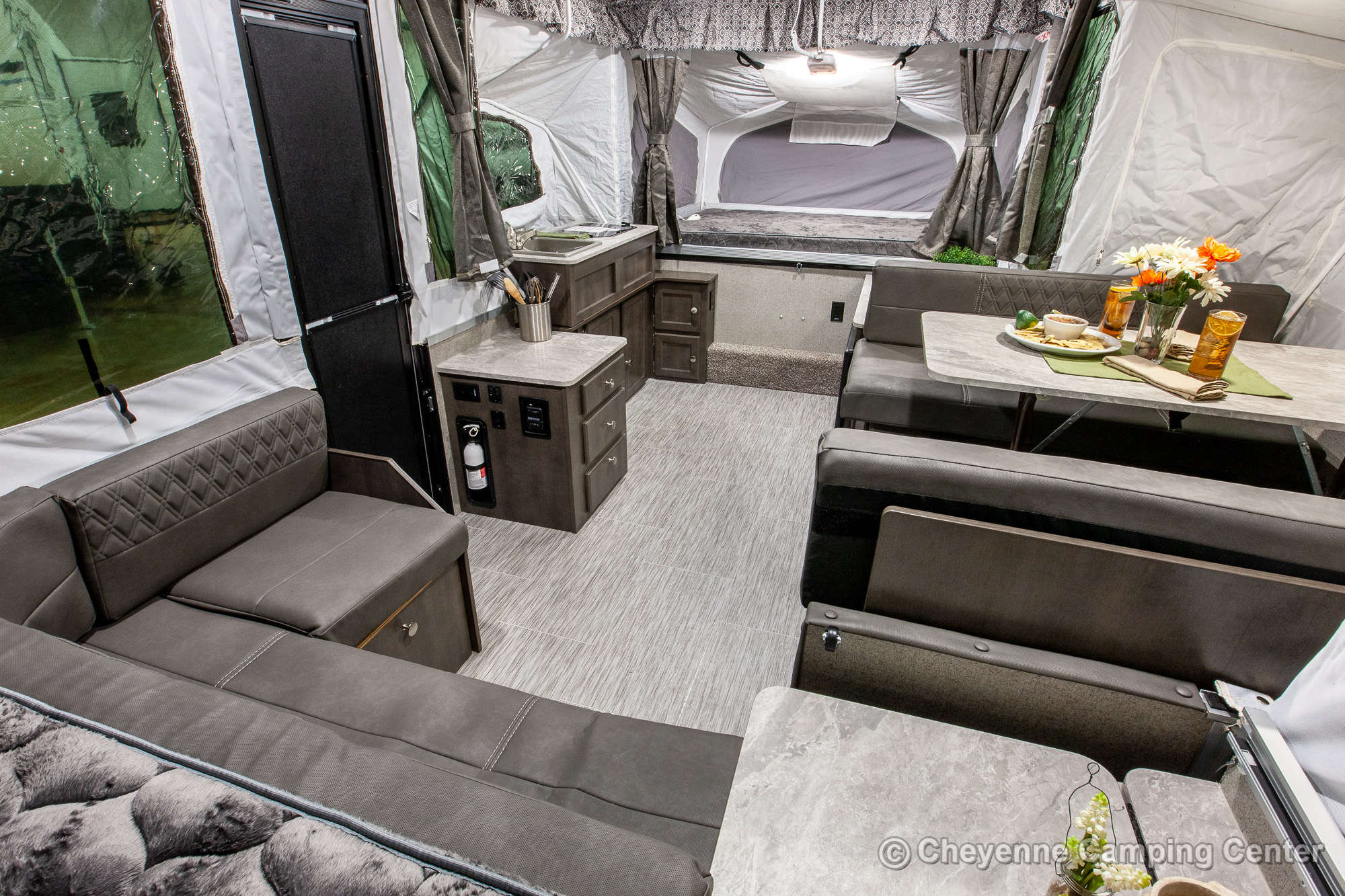 2021 Forest River Flagstaff MAC 425M Folding Camper Interior Image