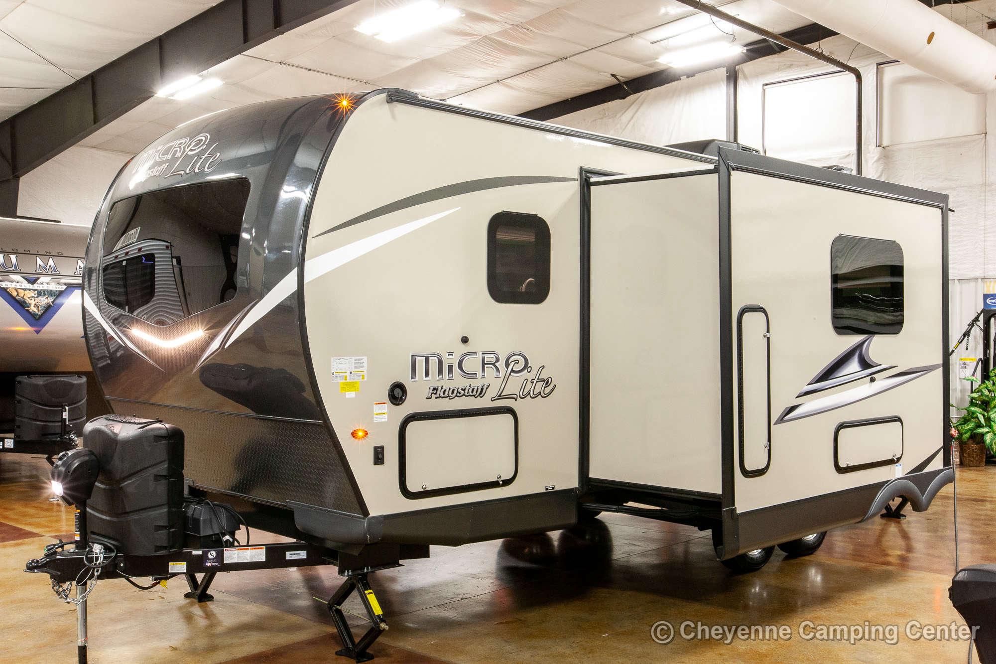 2021 Forest River Flagstaff Micro Lite 25BRDS Bunkhouse Travel Trailer Exterior Image