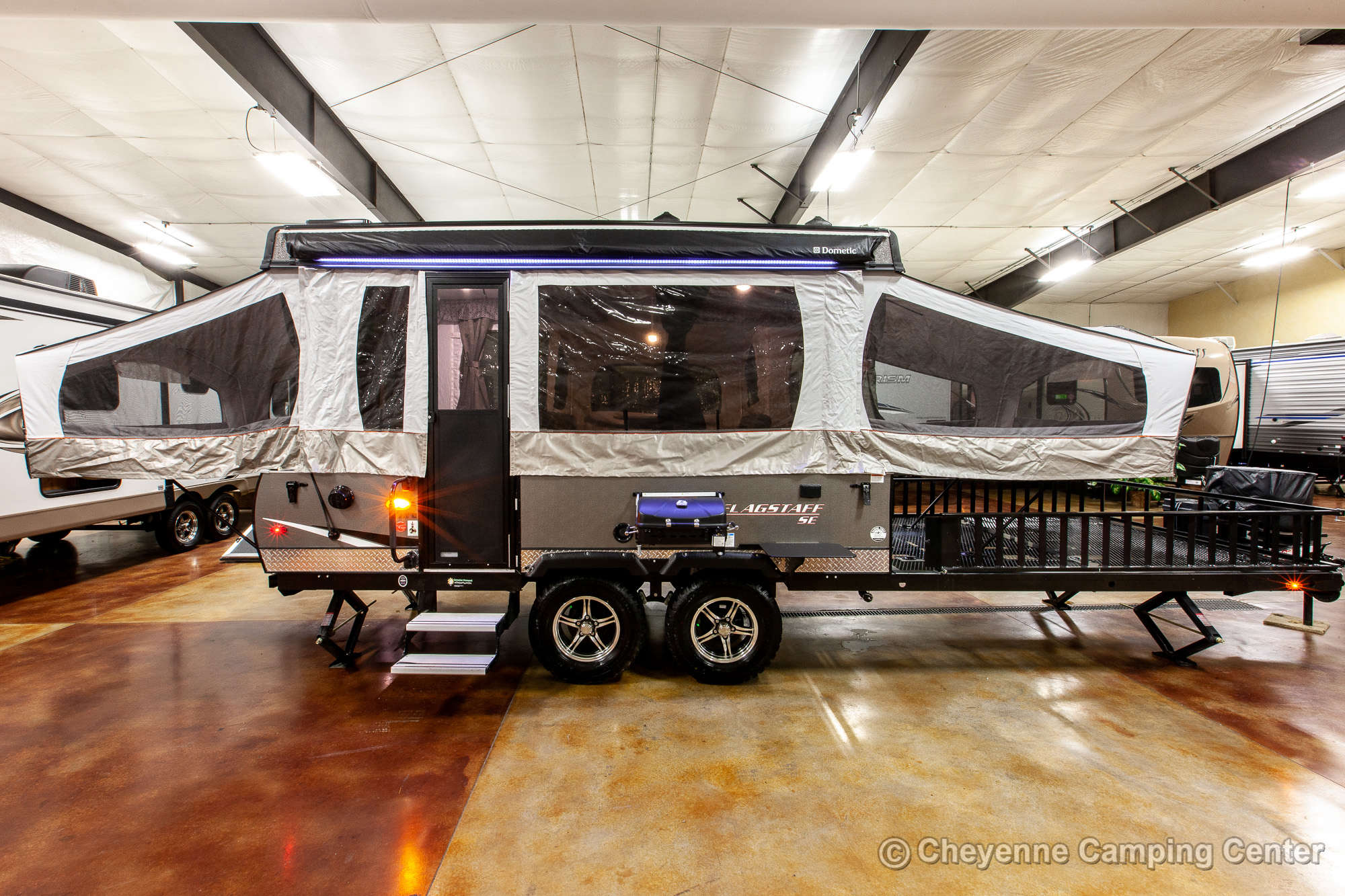 2020 Forest River Flagstaff Sports Enthusiast 28TSCSE Toy Hauler Folding Camper Exterior Image